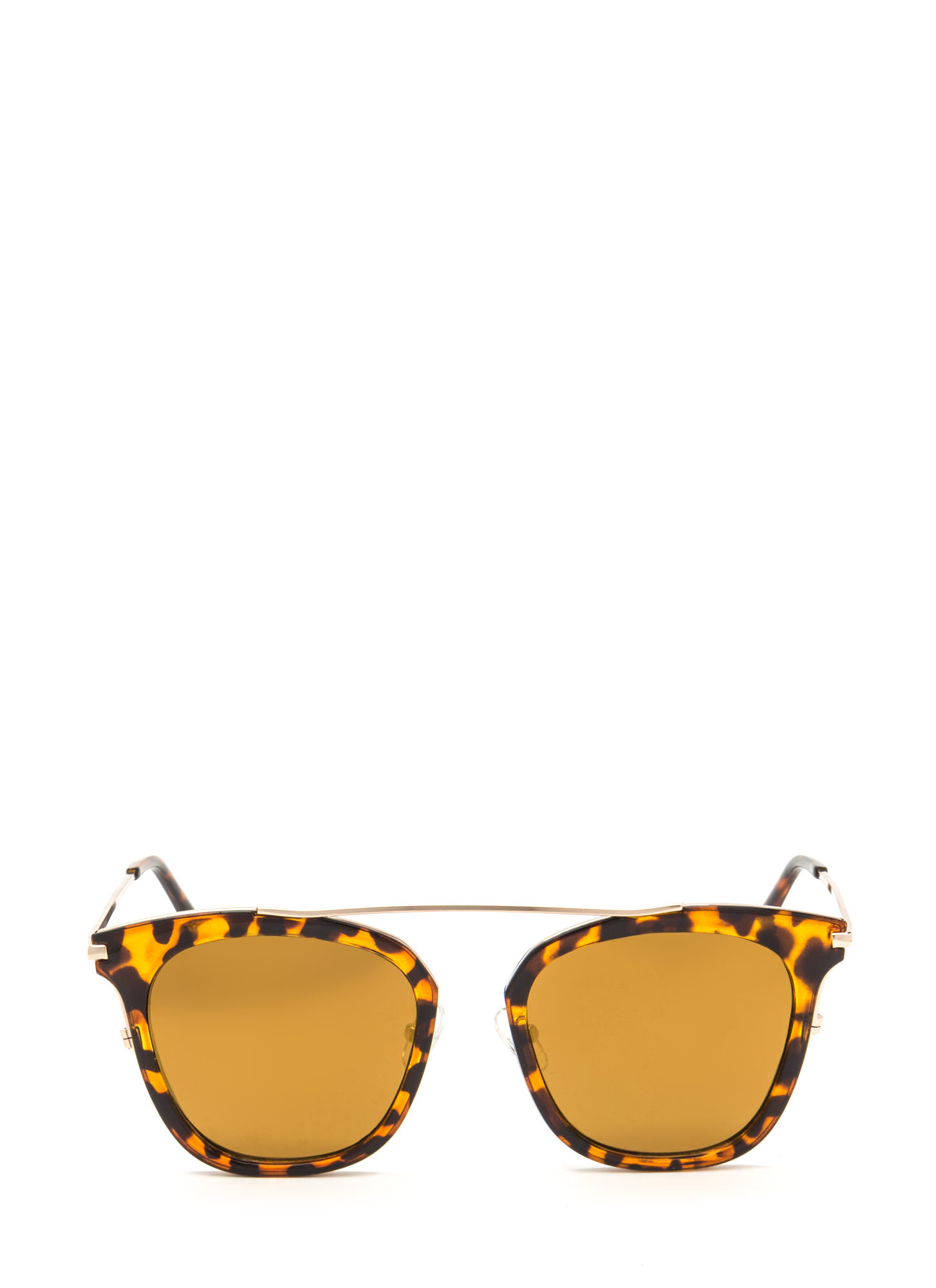 Future Is Bright Flat Sunglasses BROWNTORT