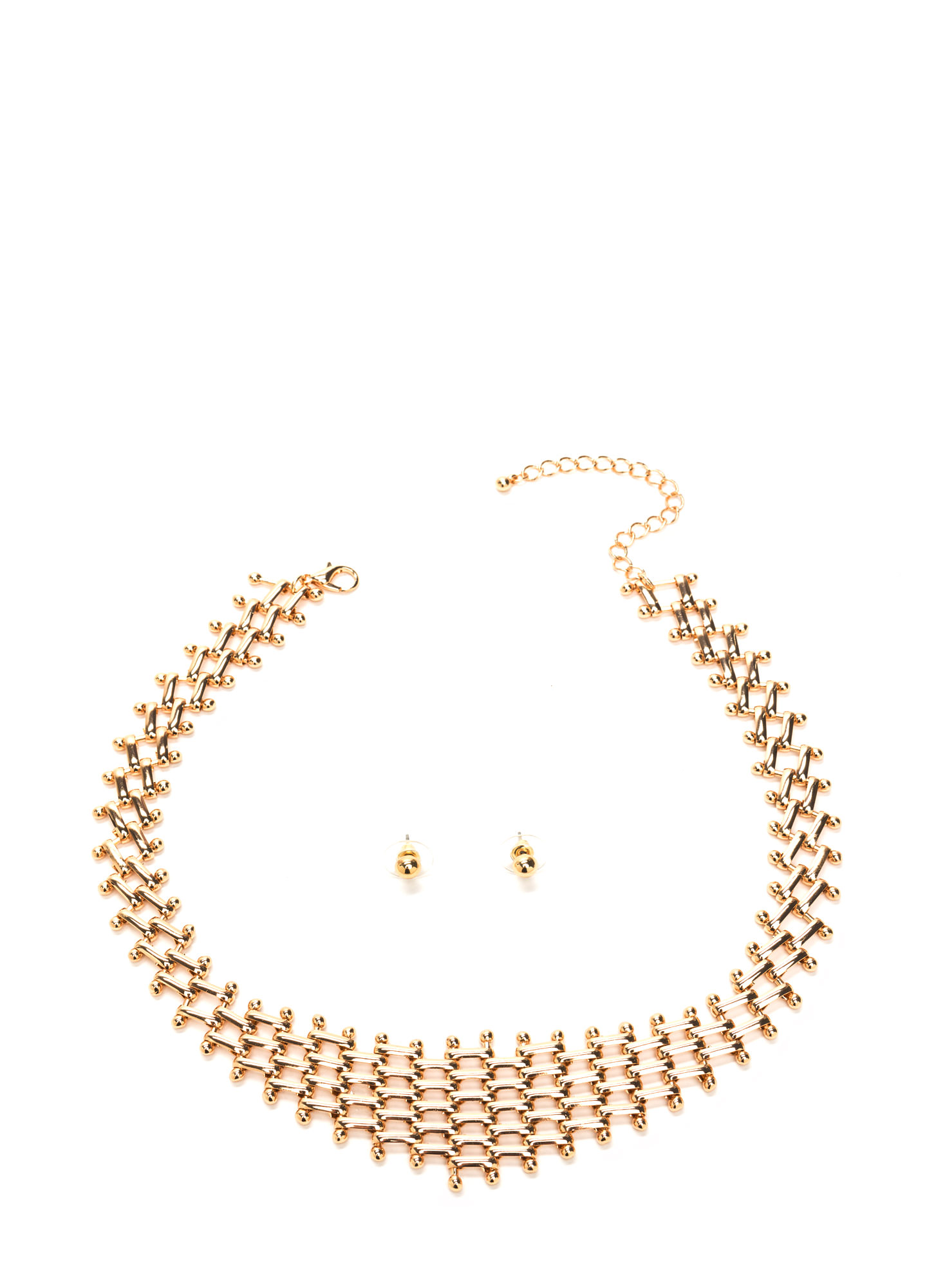 Link Up Shiny Necklace Set GOLD