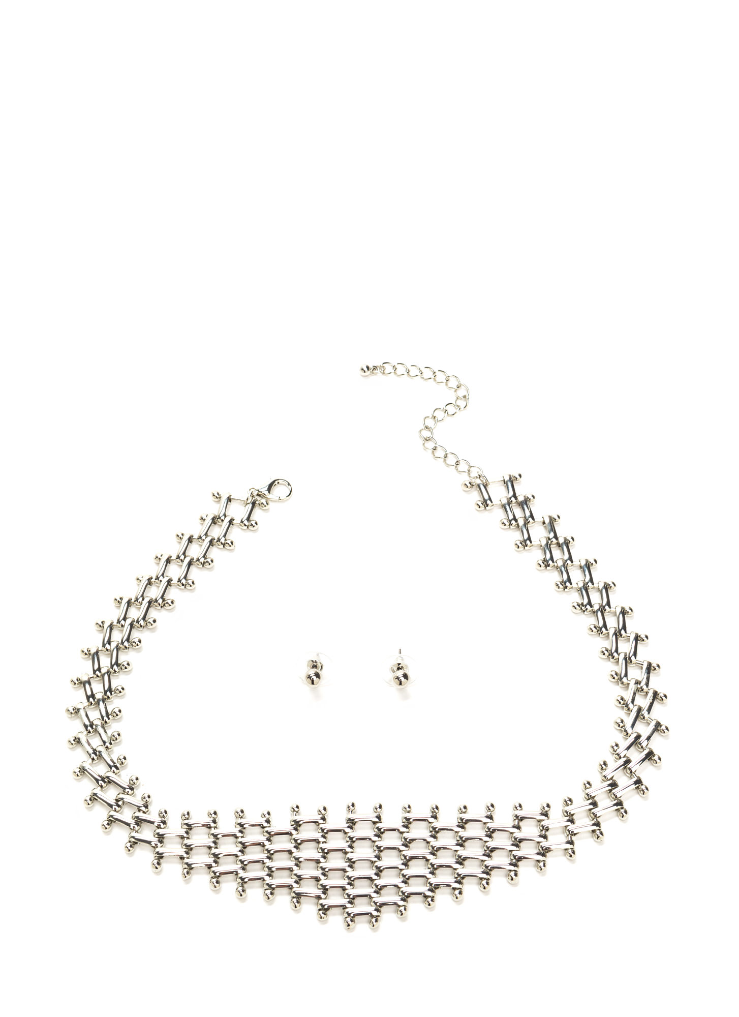 Link Up Shiny Necklace Set SILVER