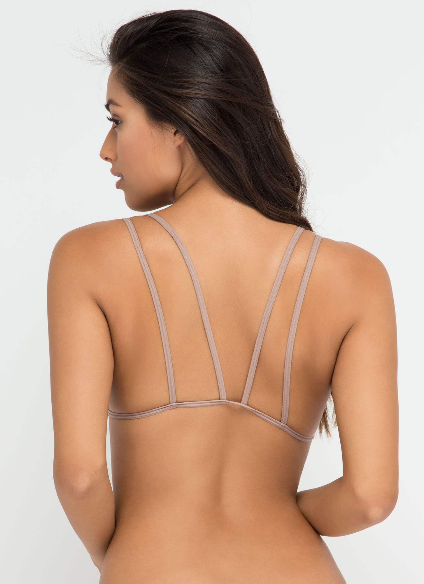 New Cage Padded Bralette TAN (Final Sale)