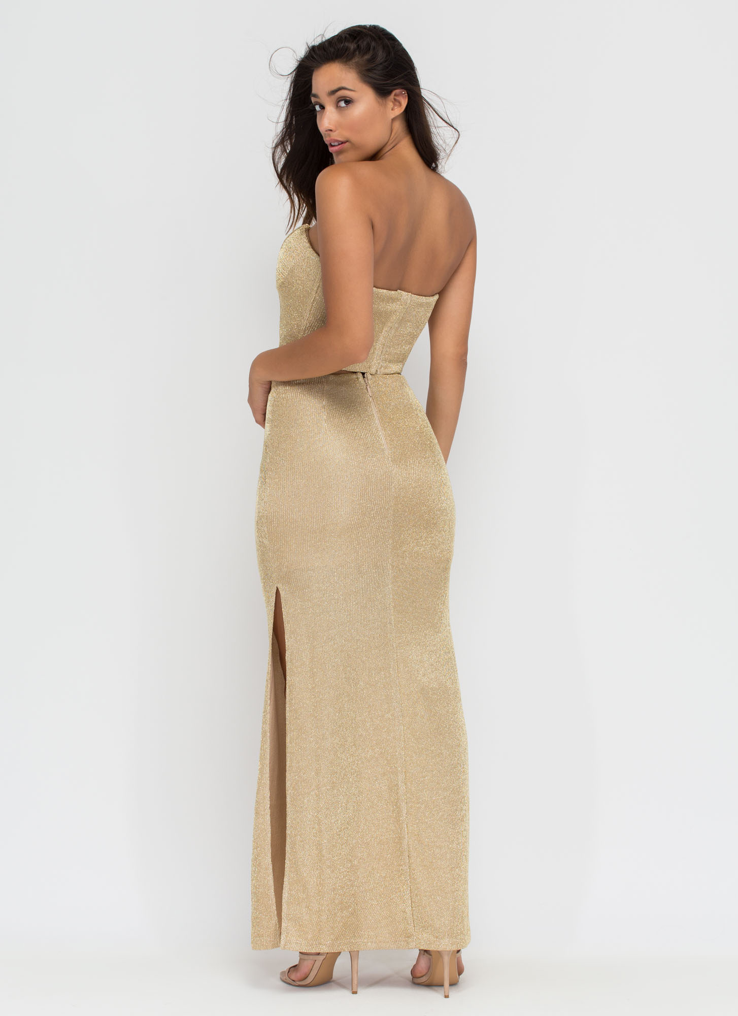Head To Toe Glam Two-Piece Set GOLD (Final Sale)