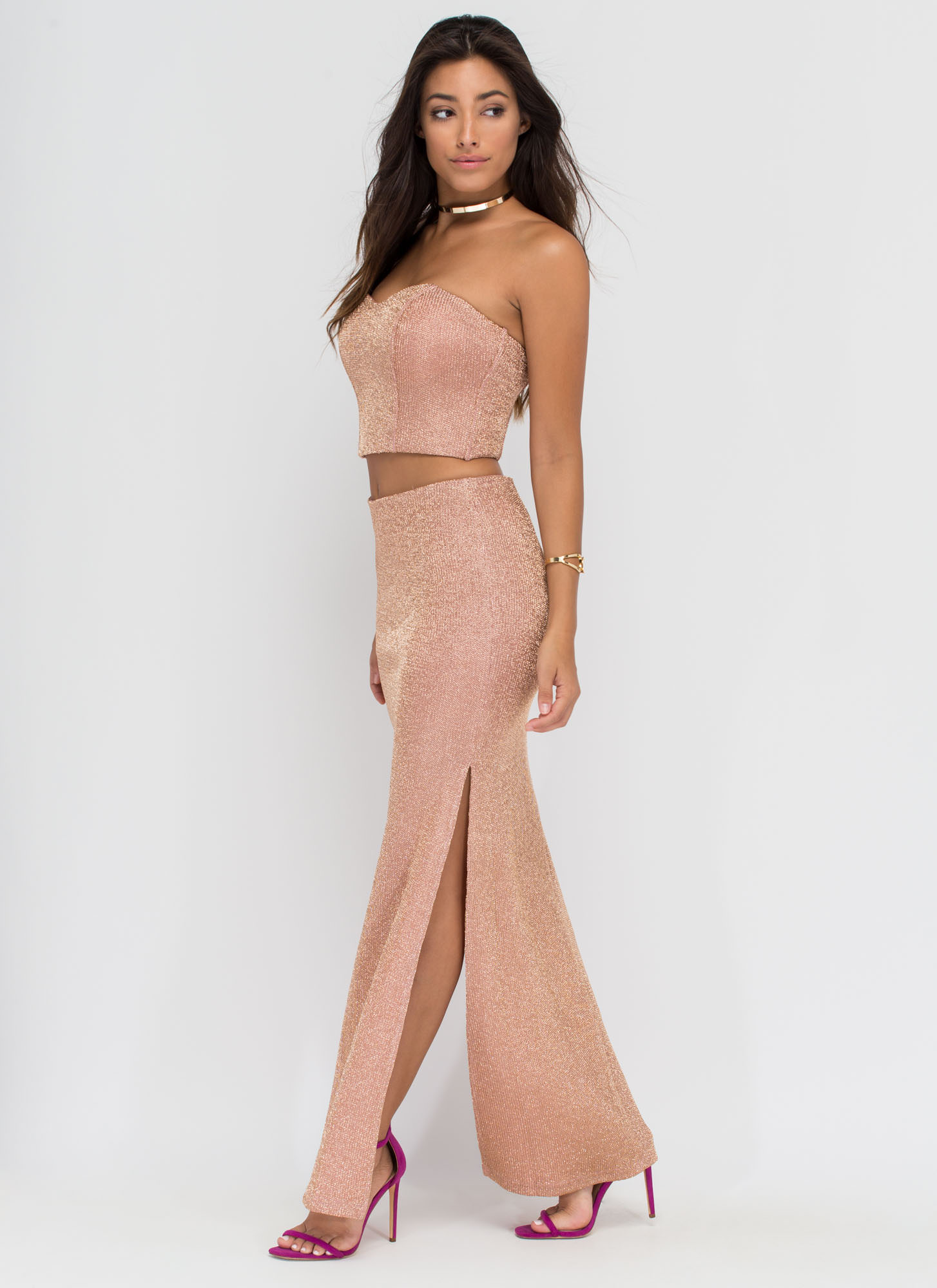 Head To Toe Glam Two-Piece Set ROSEGOLD (Final Sale)