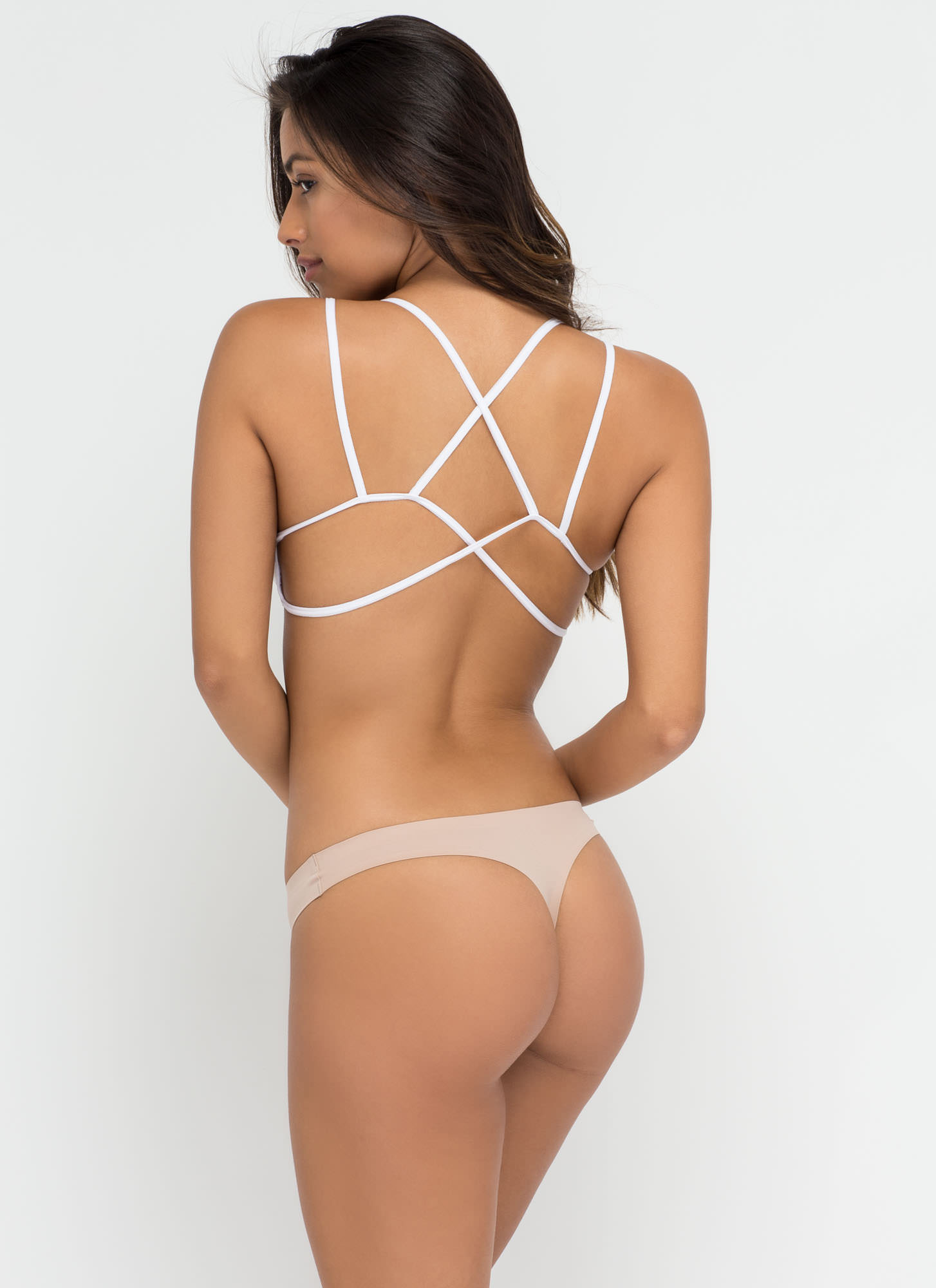 Barely There Seamless Thong BEIGE (Final Sale)