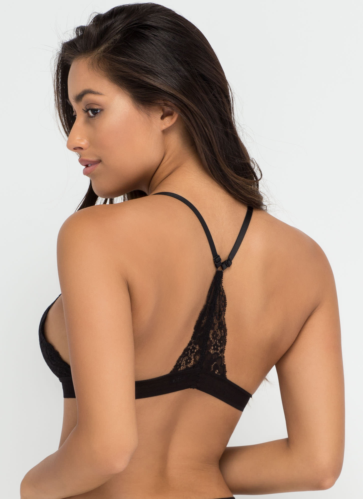 Racing Pulse Racerback Lace Bralette BLACK (Final Sale)