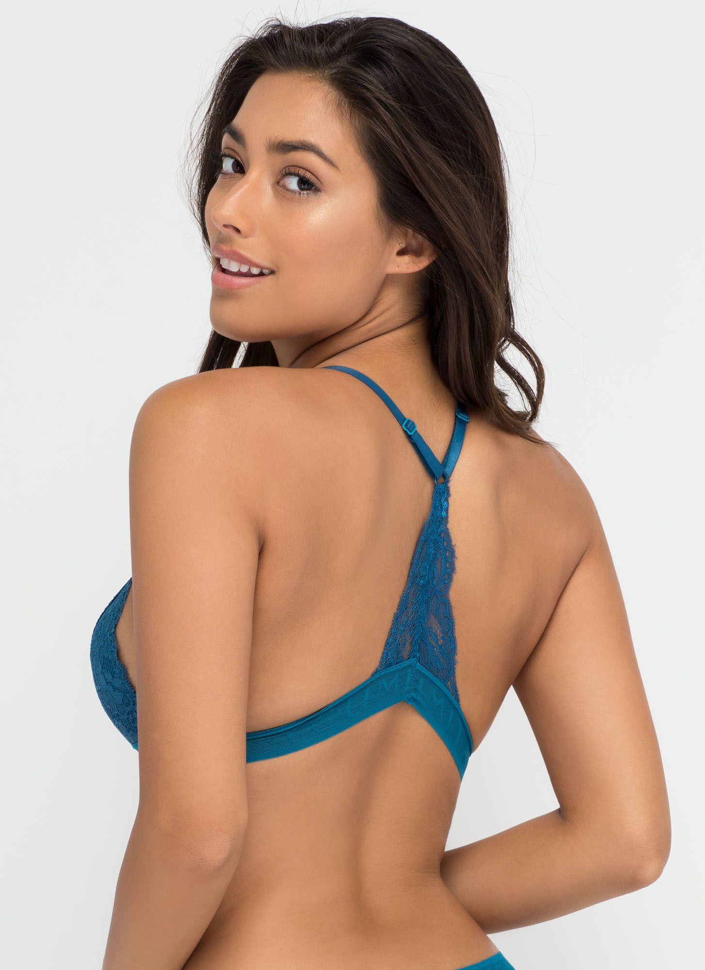 Racing Pulse Racerback Lace Bralette TURQUOISE (Final Sale)