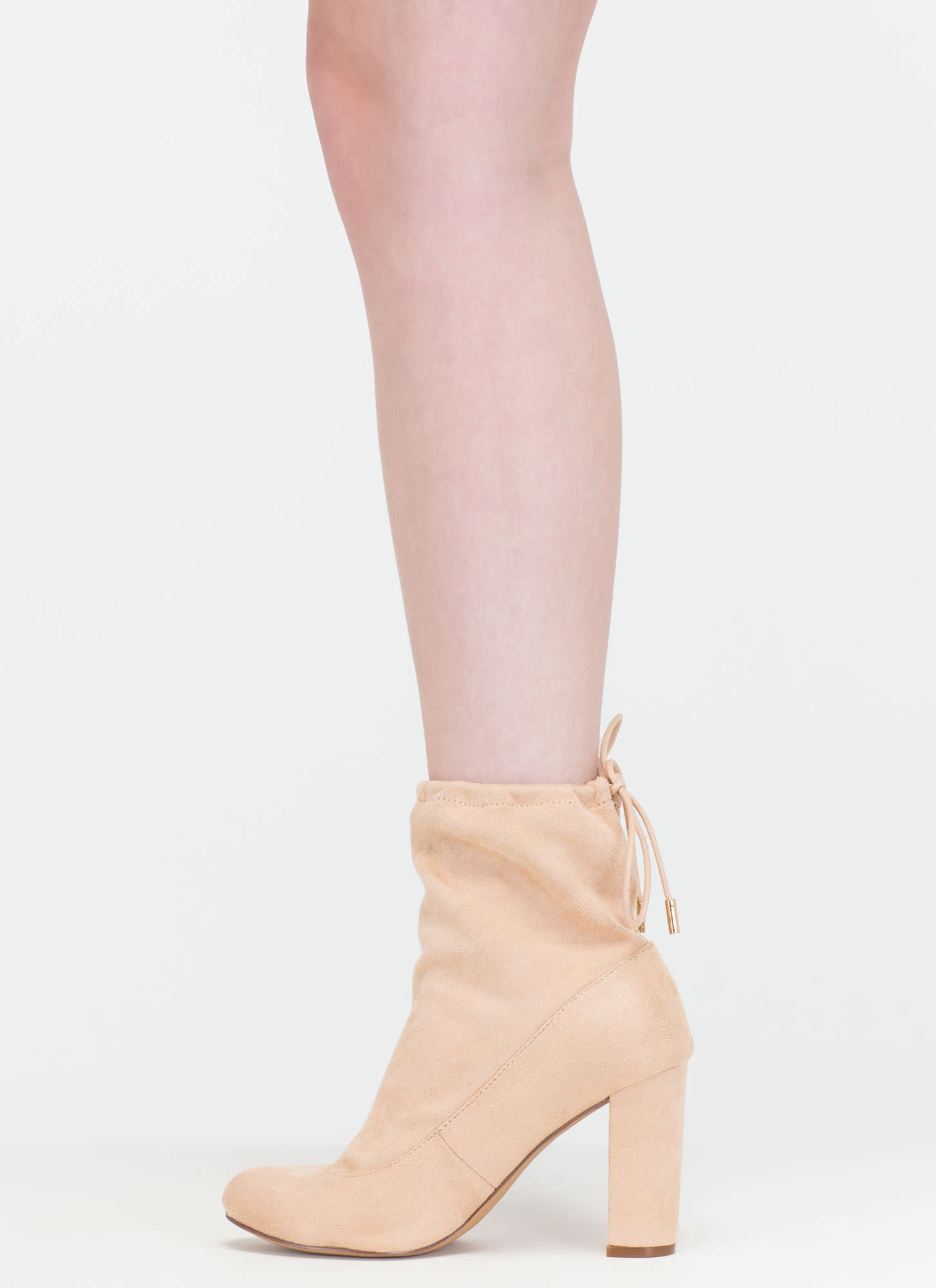 Fashion Activist Slouchy Booties NUDE