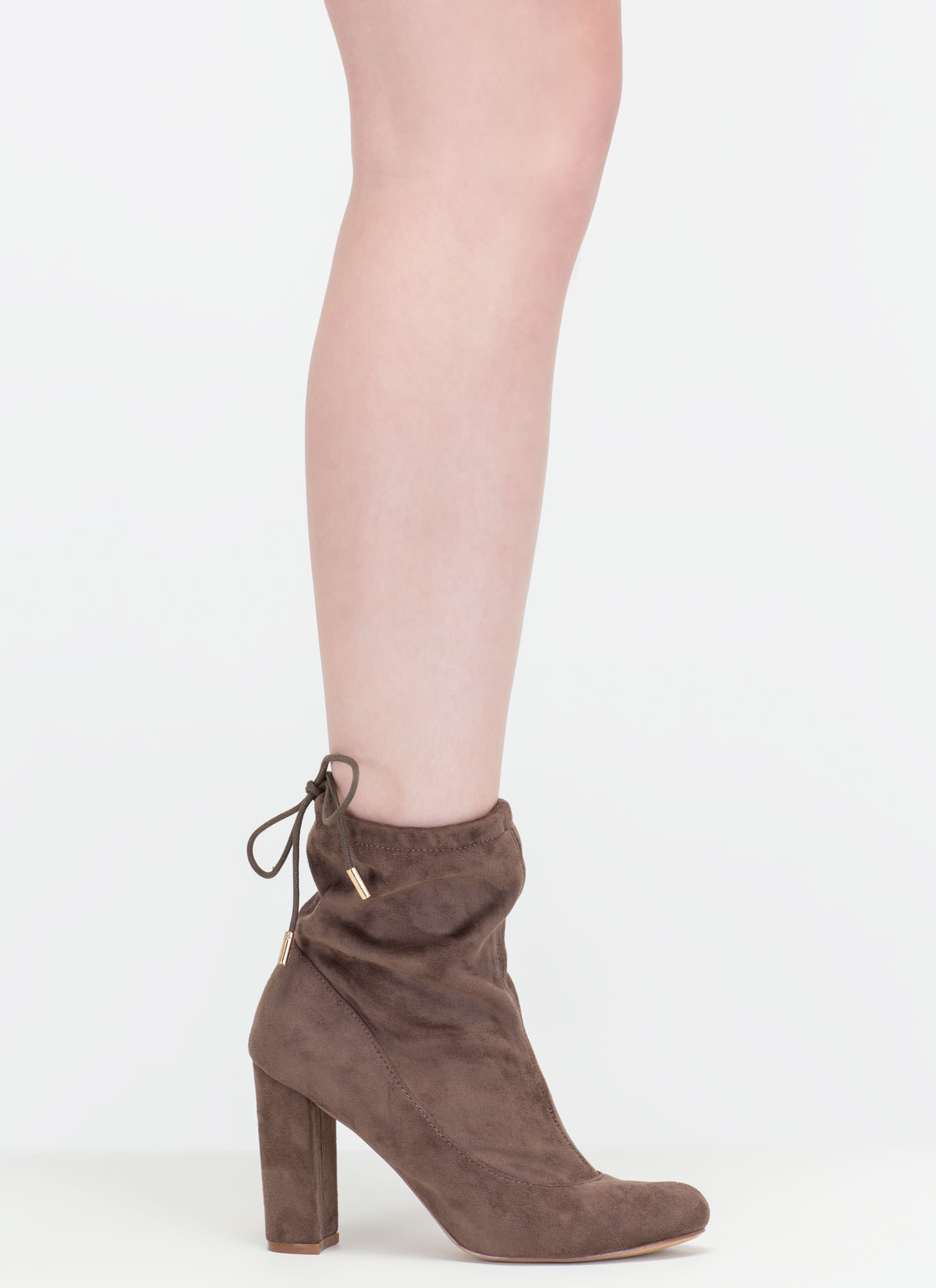Fashion Activist Slouchy Booties TAUPE