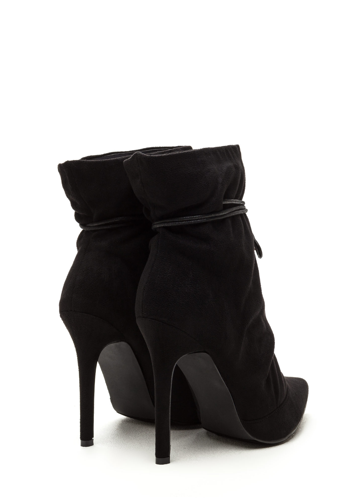 Chic In The City Slouchy Booties BLACK
