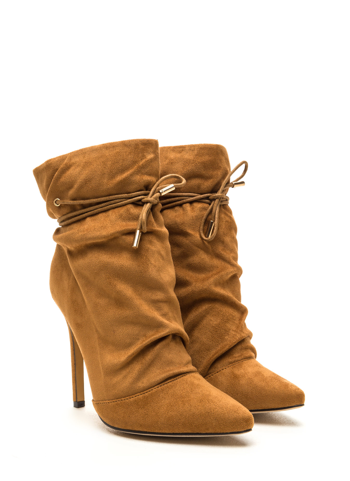 Chic In The City Slouchy Booties TAN