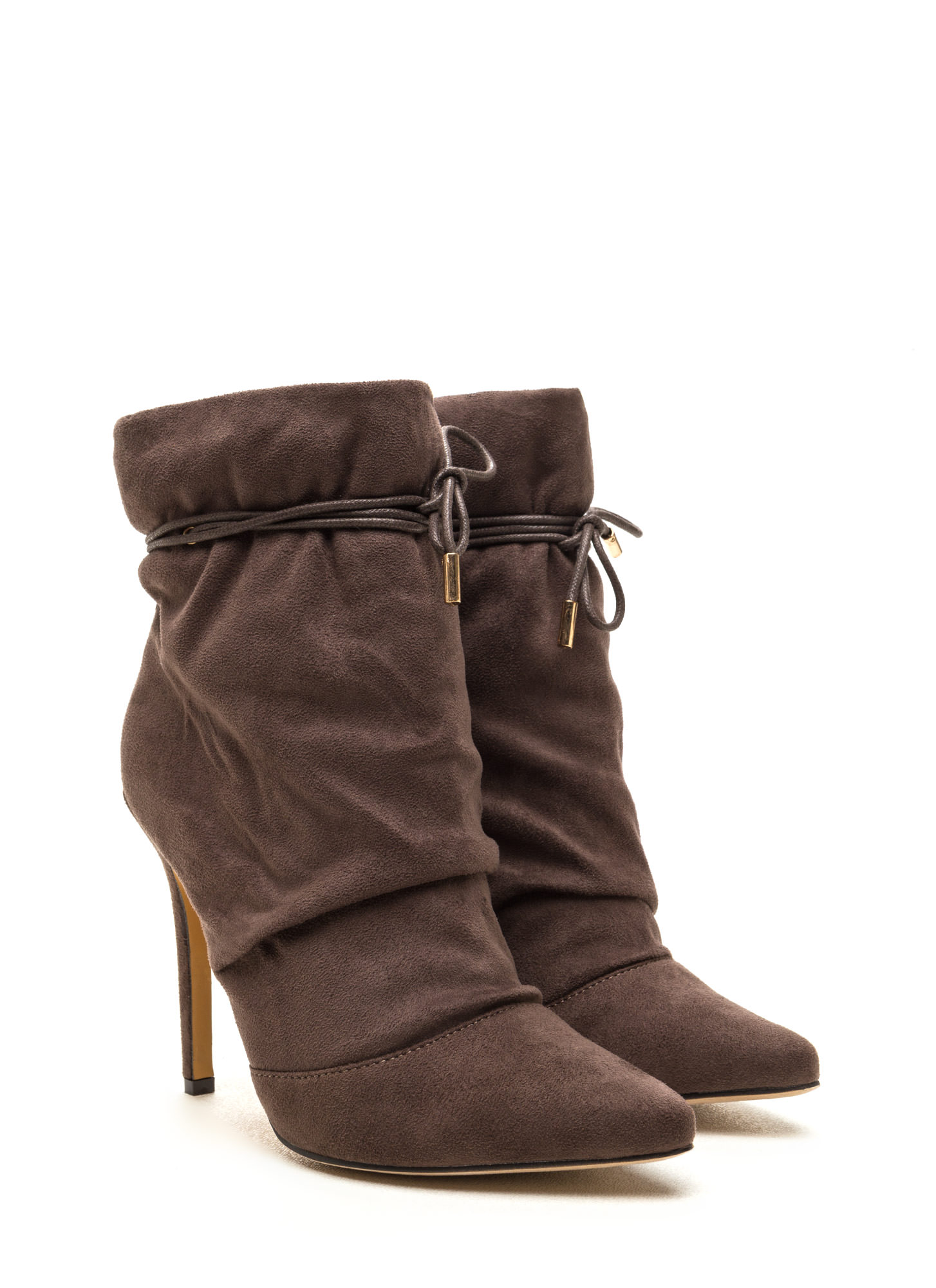 Chic In The City Slouchy Booties TAUPE