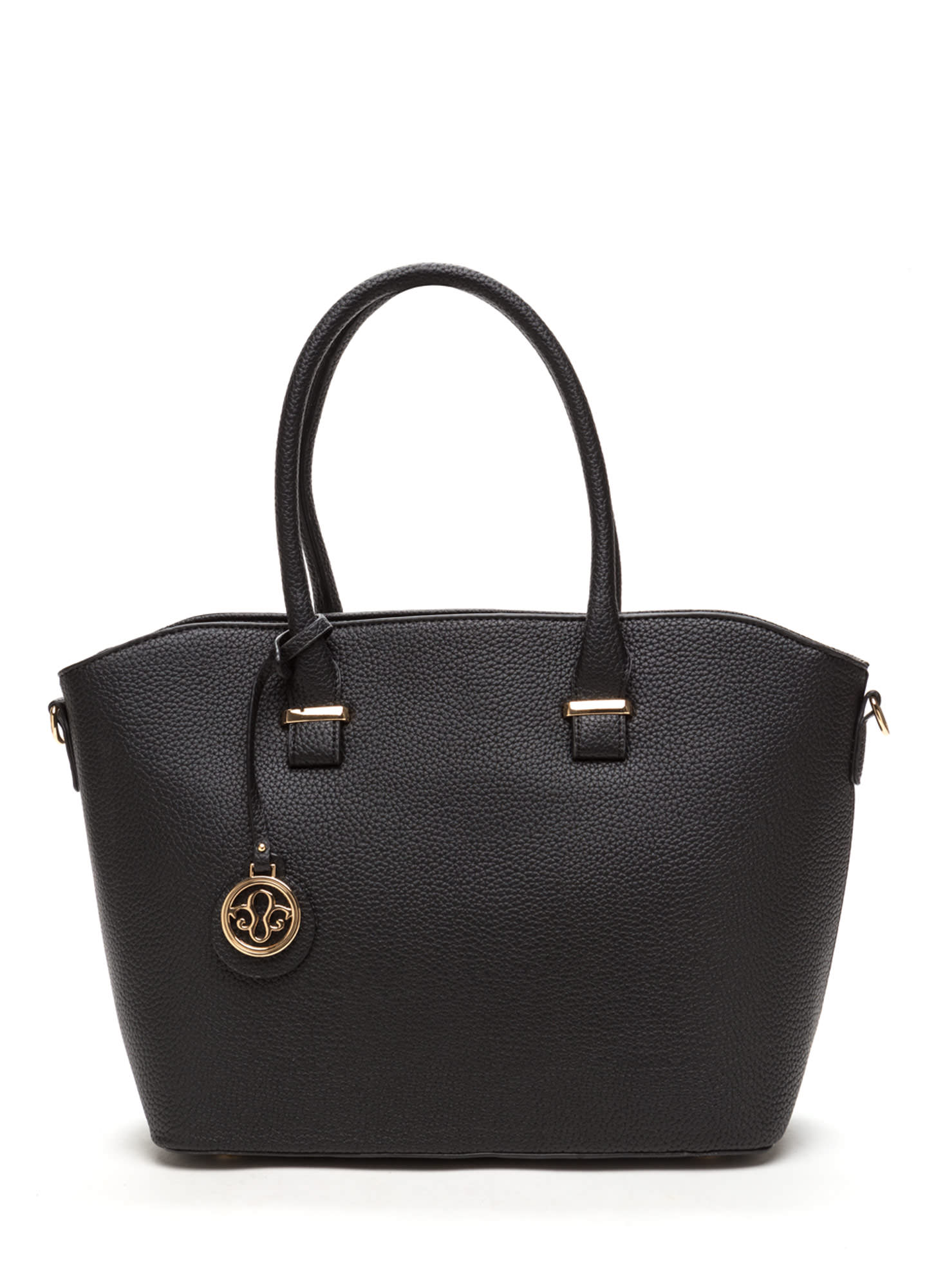 First Lady Faux Leather Bag Set BLACK