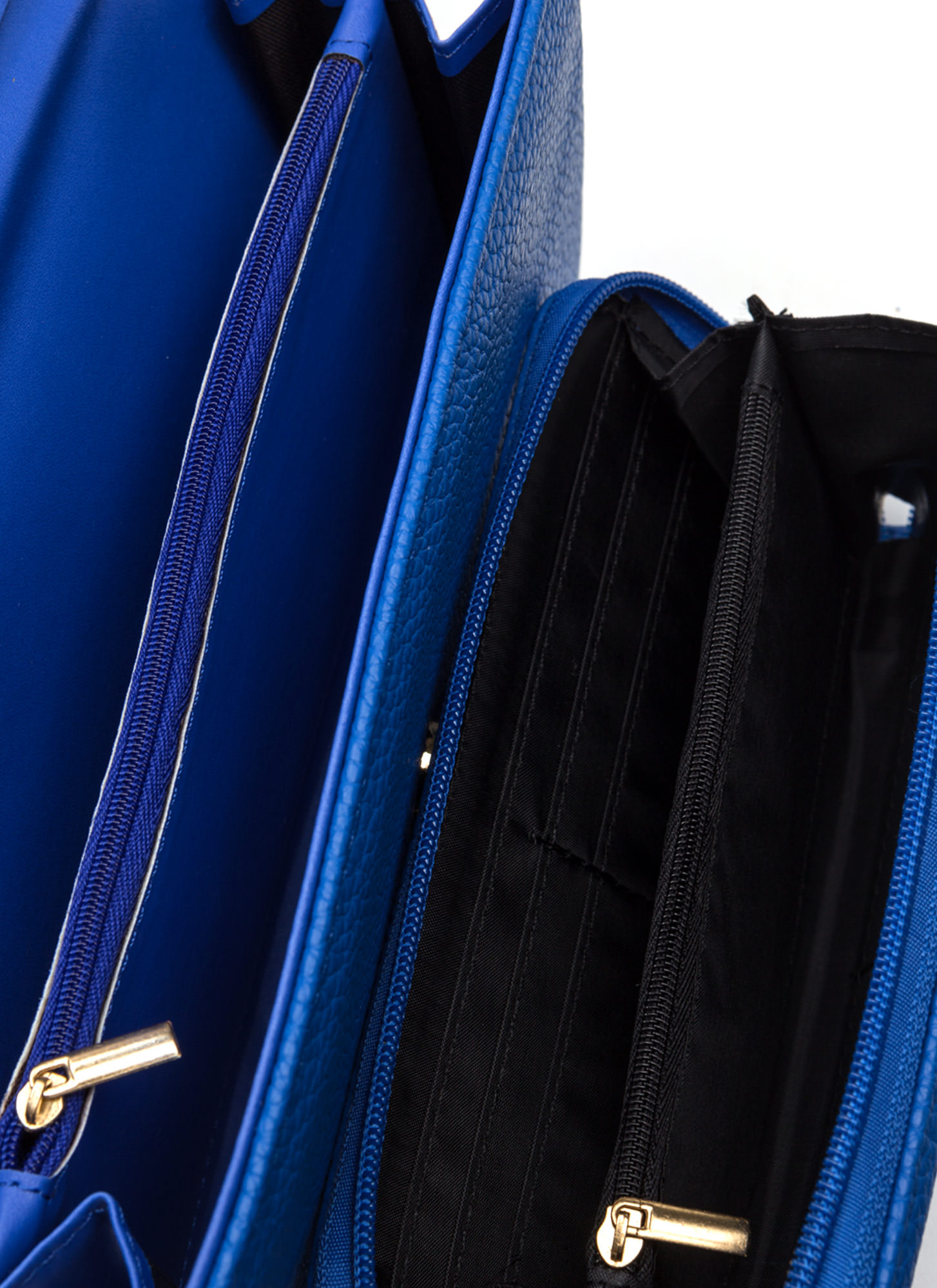 First Lady Faux Leather Bag Set BLUE