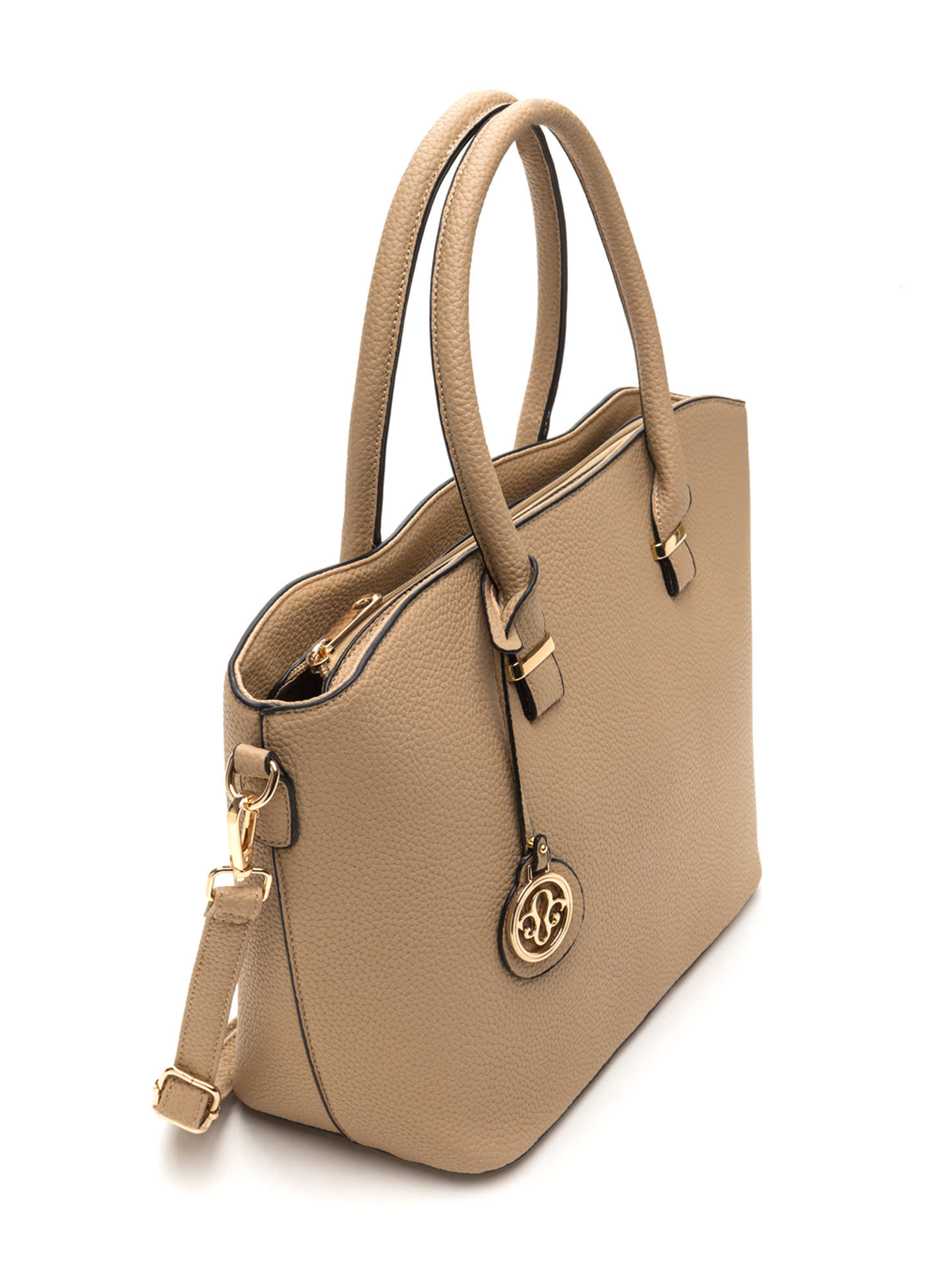 First Lady Faux Leather Bag Set TAN