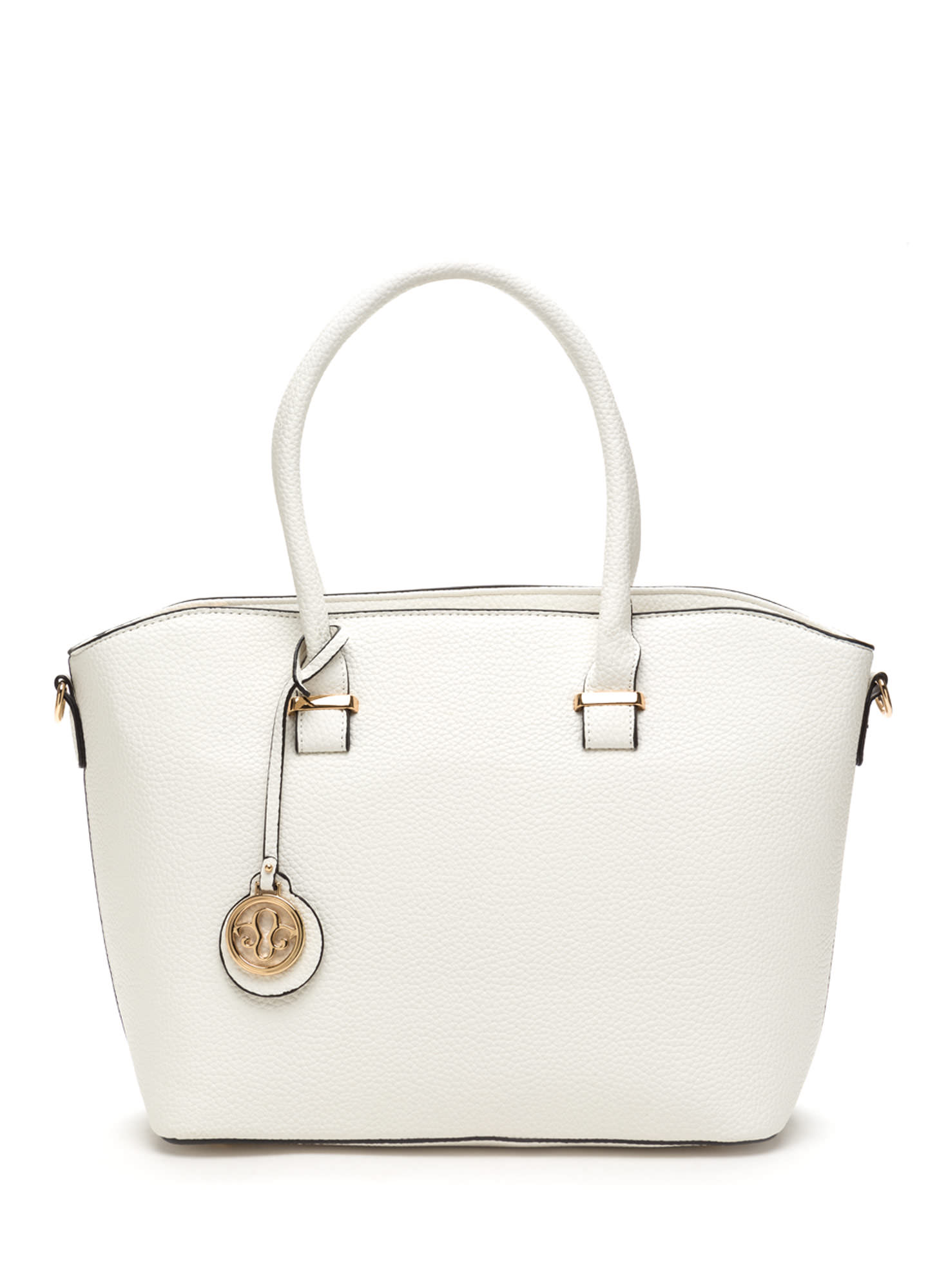 First Lady Faux Leather Bag Set WHITE