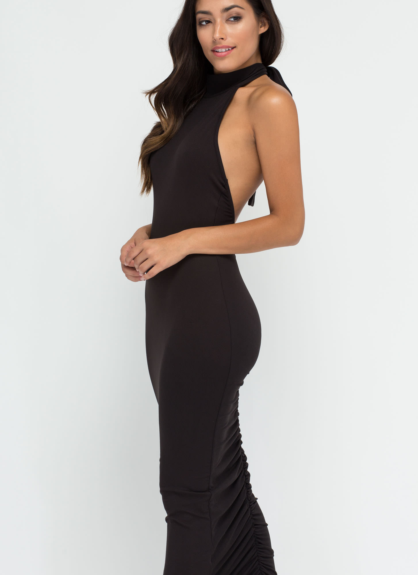 Bod Goals Mockneck Maxi Dress BLACK