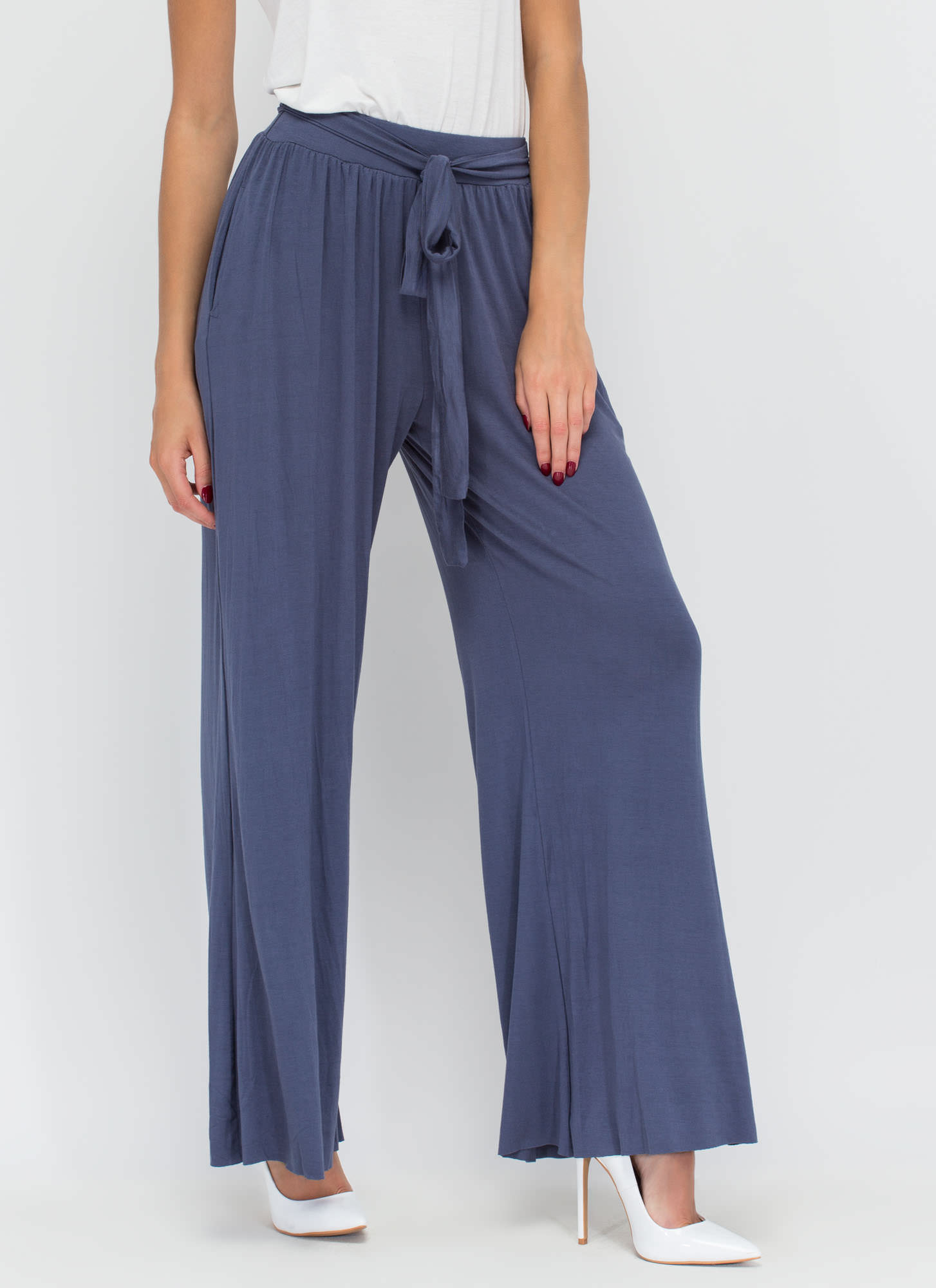 Casual Date Palazzo Pants BLUE