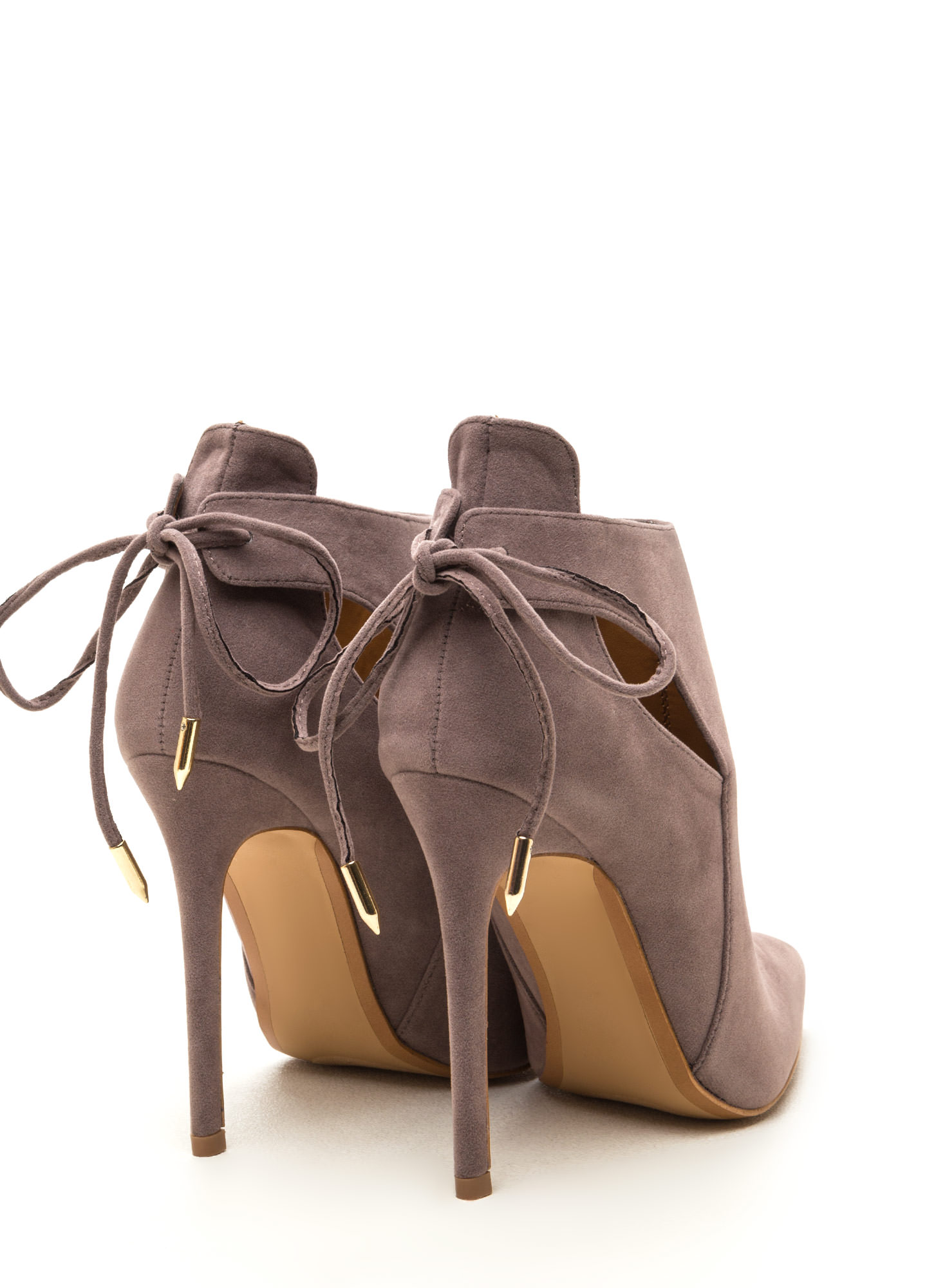 Brownie Points Faux Suede Booties GREY