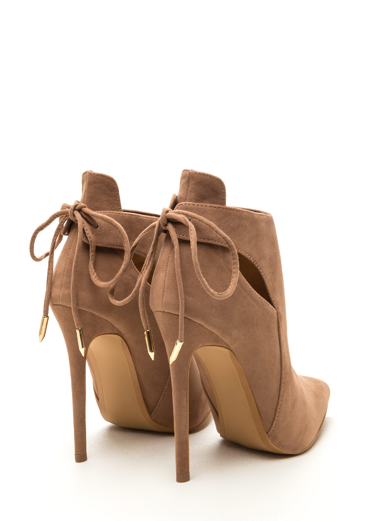 Brownie Points Faux Suede Booties TAUPE