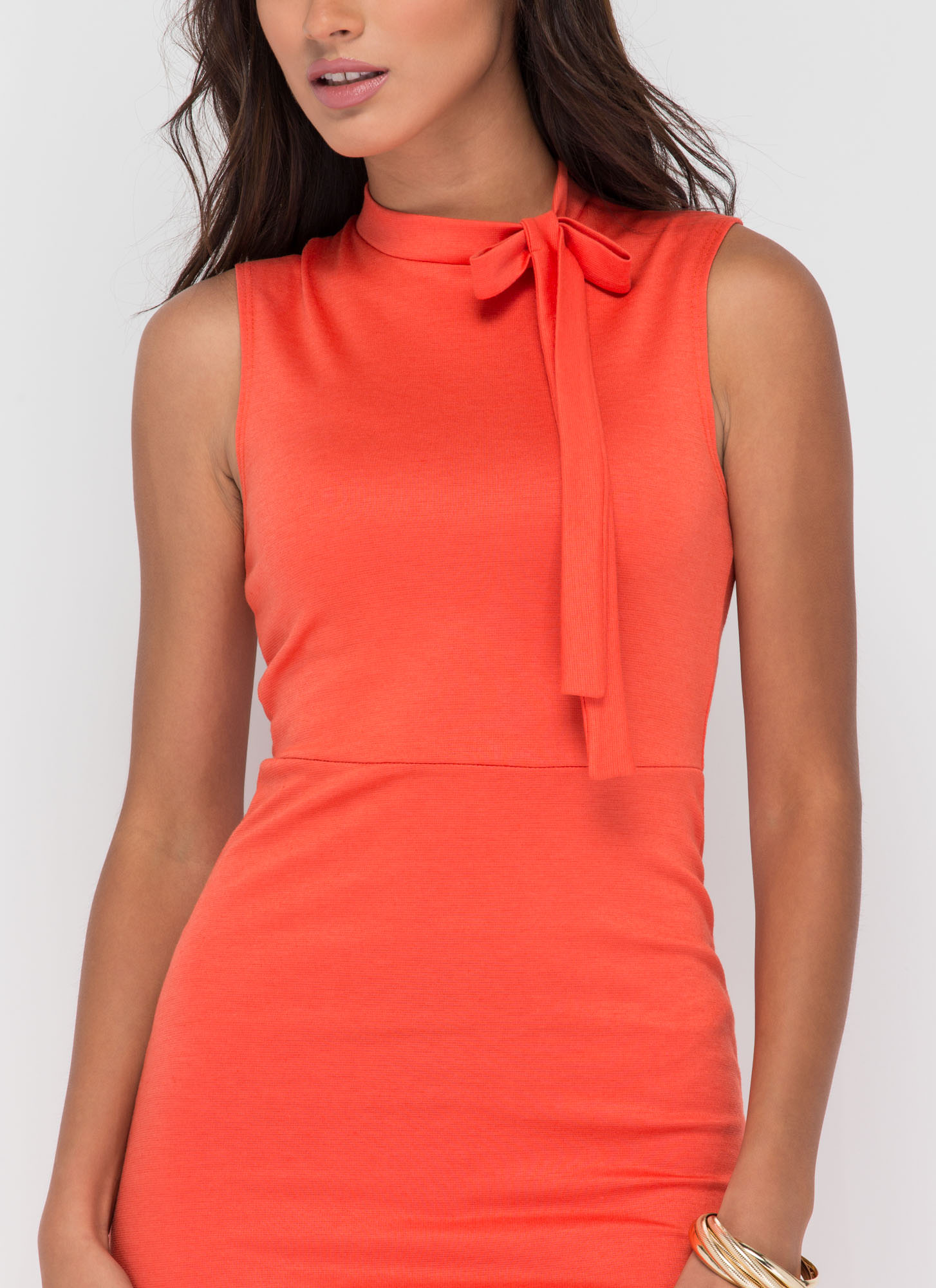 Bow Me Away Midi Dress ORANGE