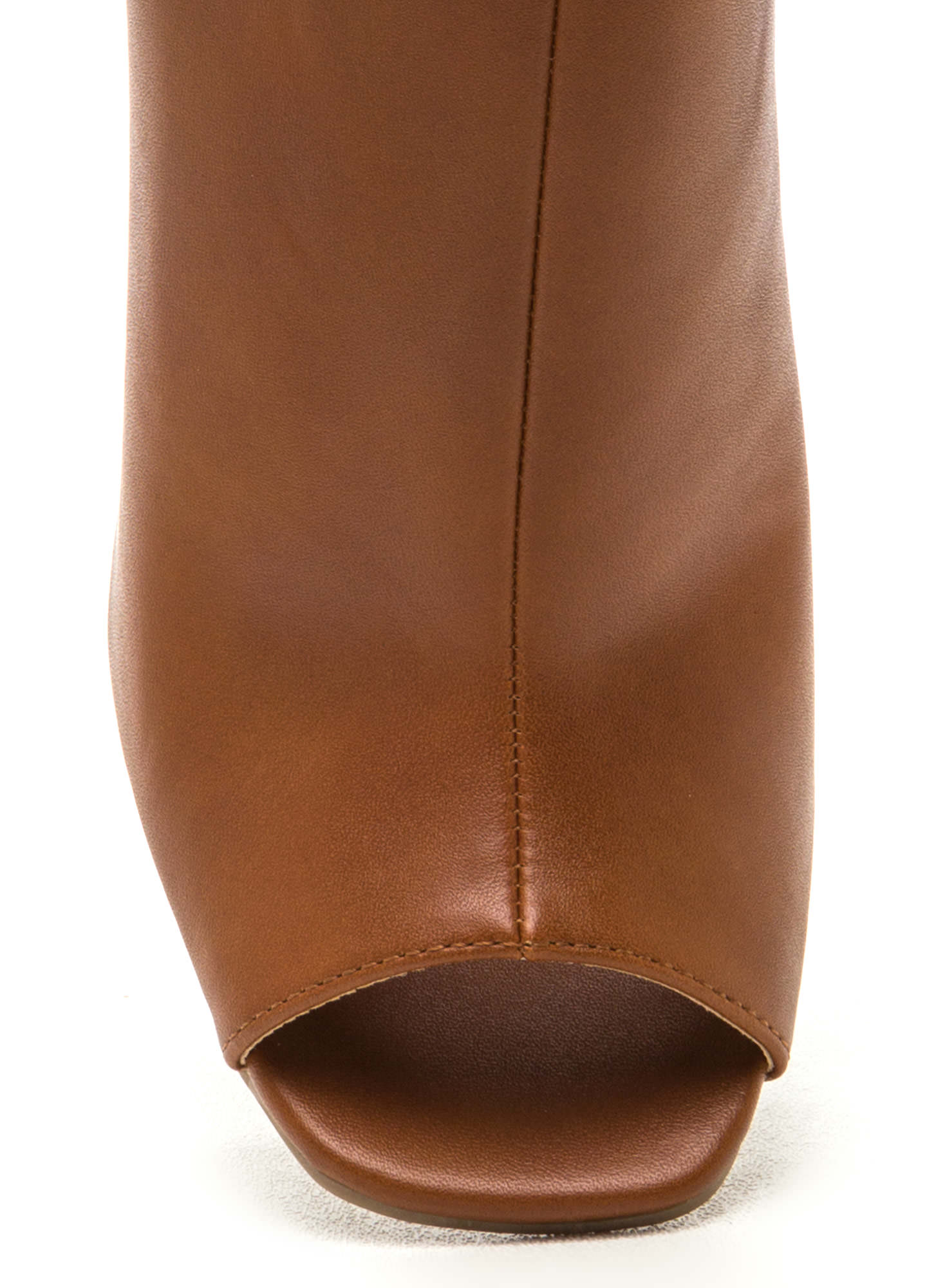 Subtle Art Ankle Strap Mule Booties WHISKY