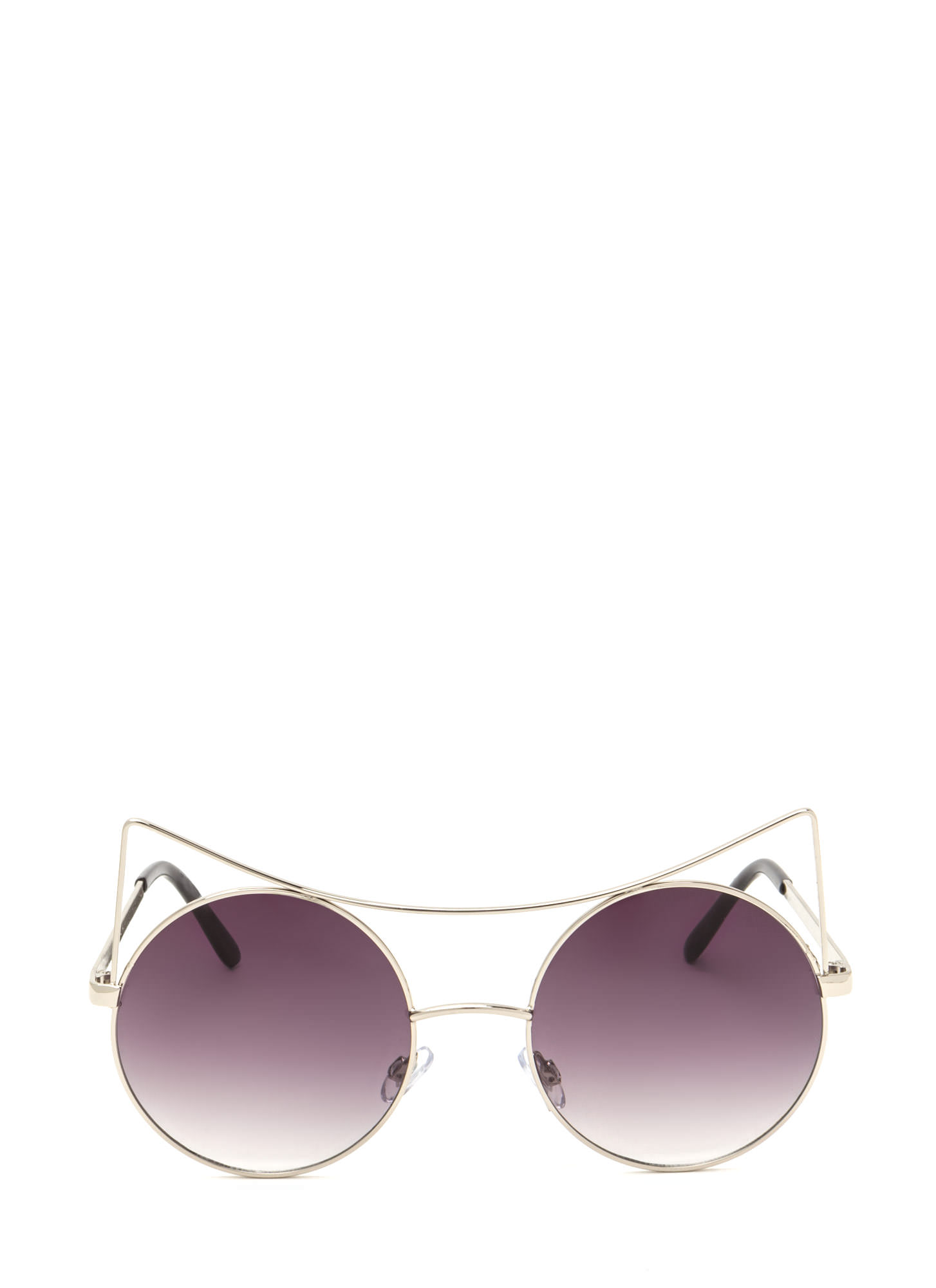 Purr-fect Round Cat Ear Sunglasses SILVER