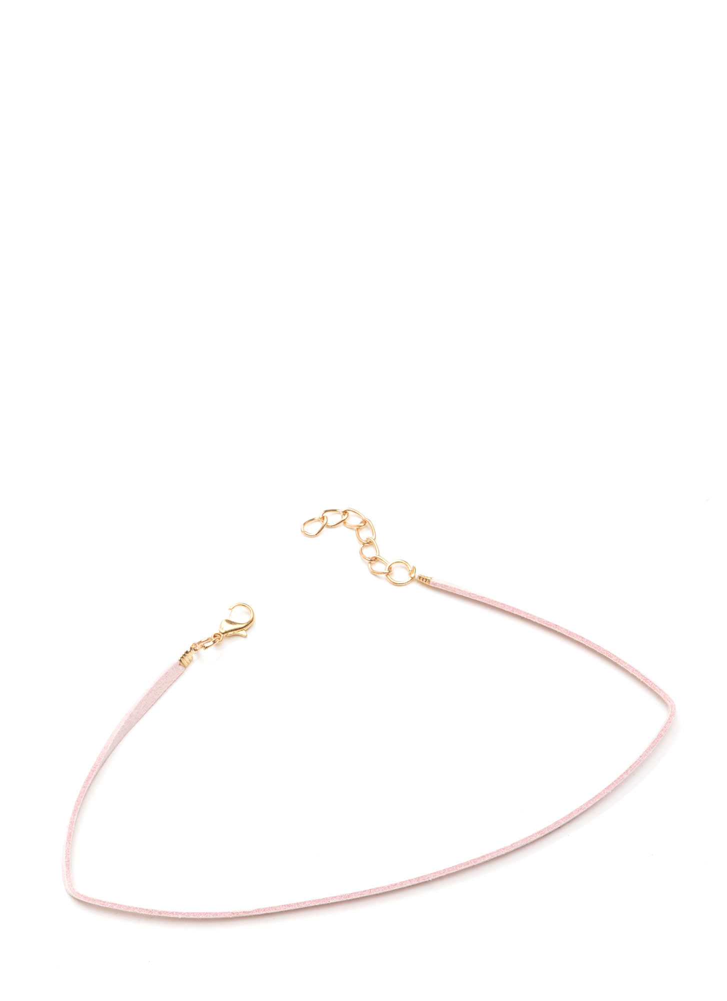 What's The Skinny Faux Leather Choker BLUSH