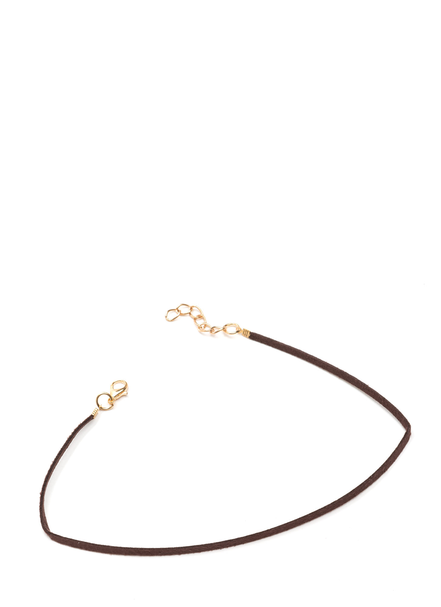 What's The Skinny Faux Leather Choker BROWN
