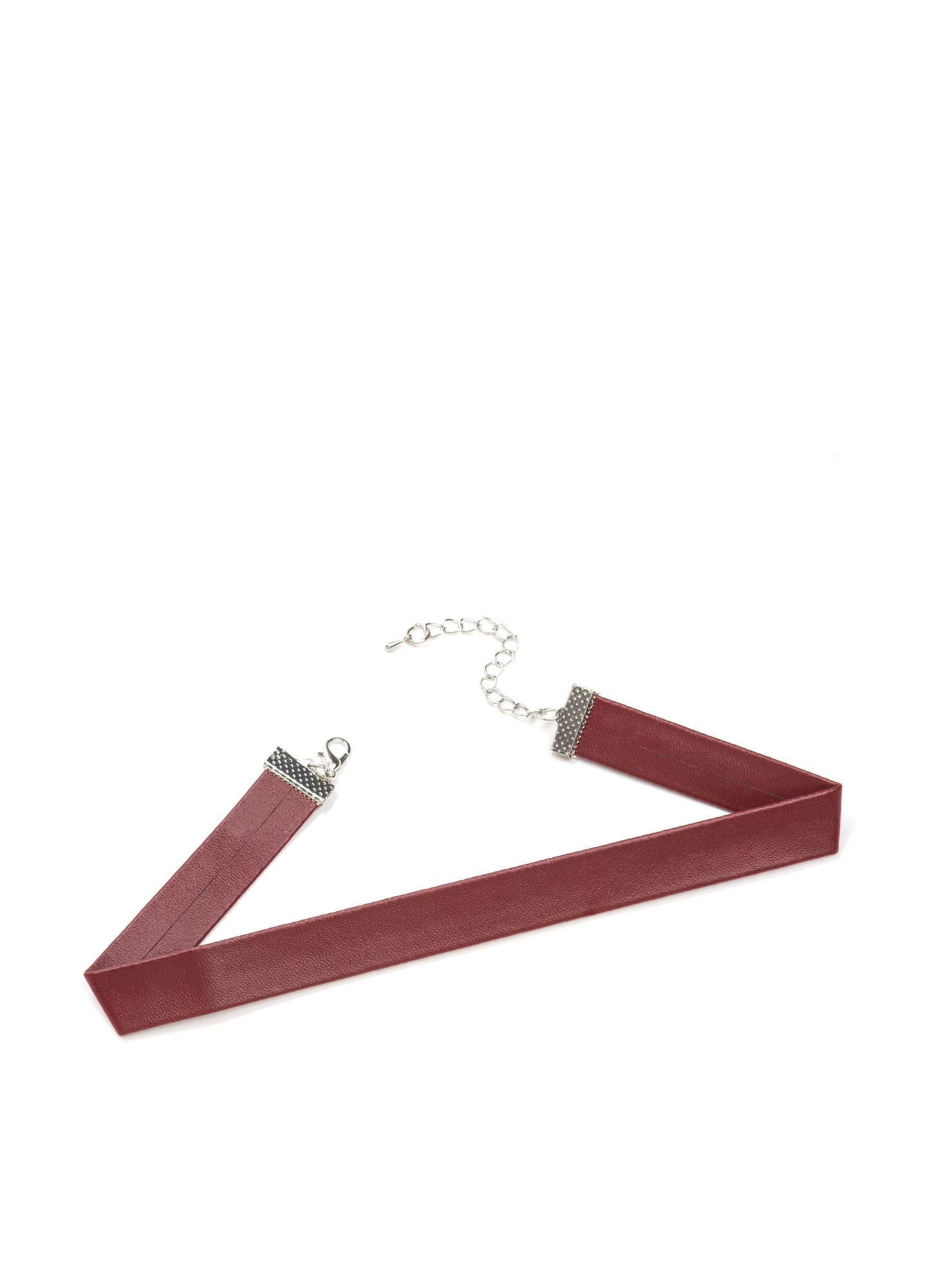 Simply 90s Chic Faux Leather Choker BURGUNDY
