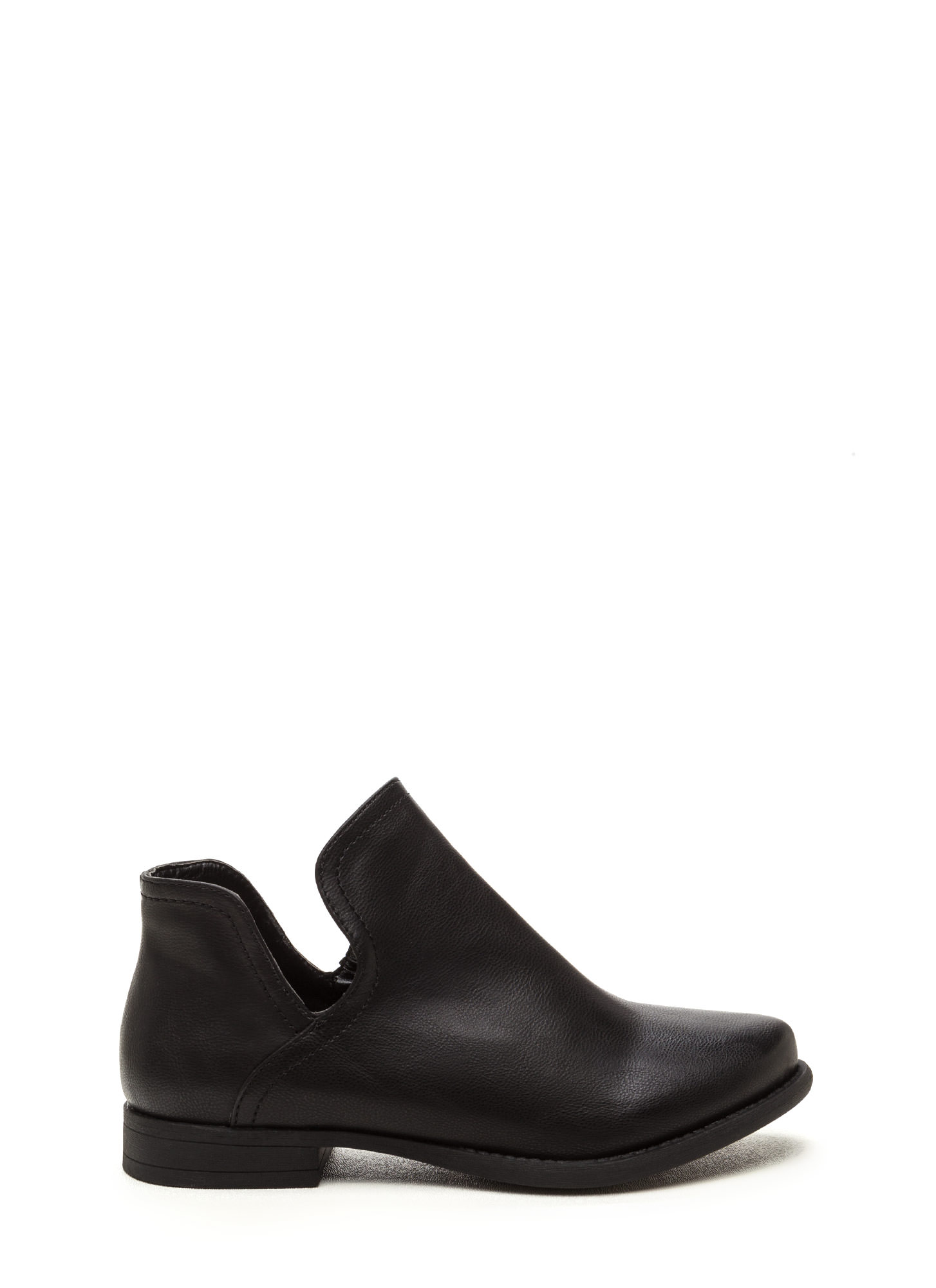 The Down Low Faux Leather Booties BLACK