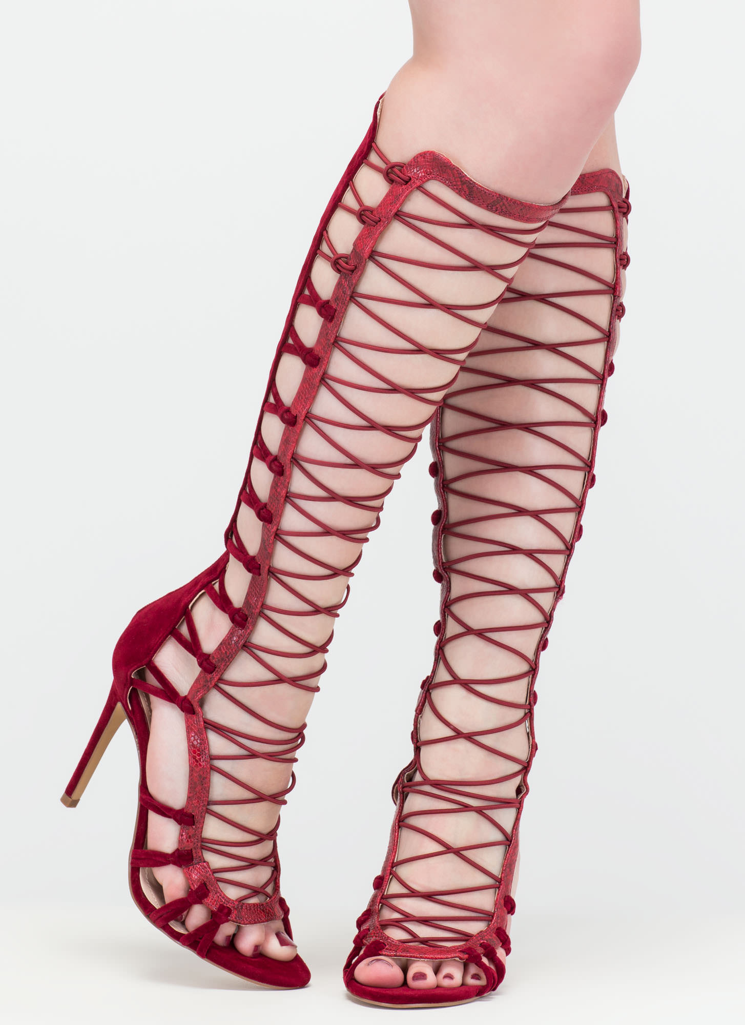 Knot Your Average Gladiator Heels WINE