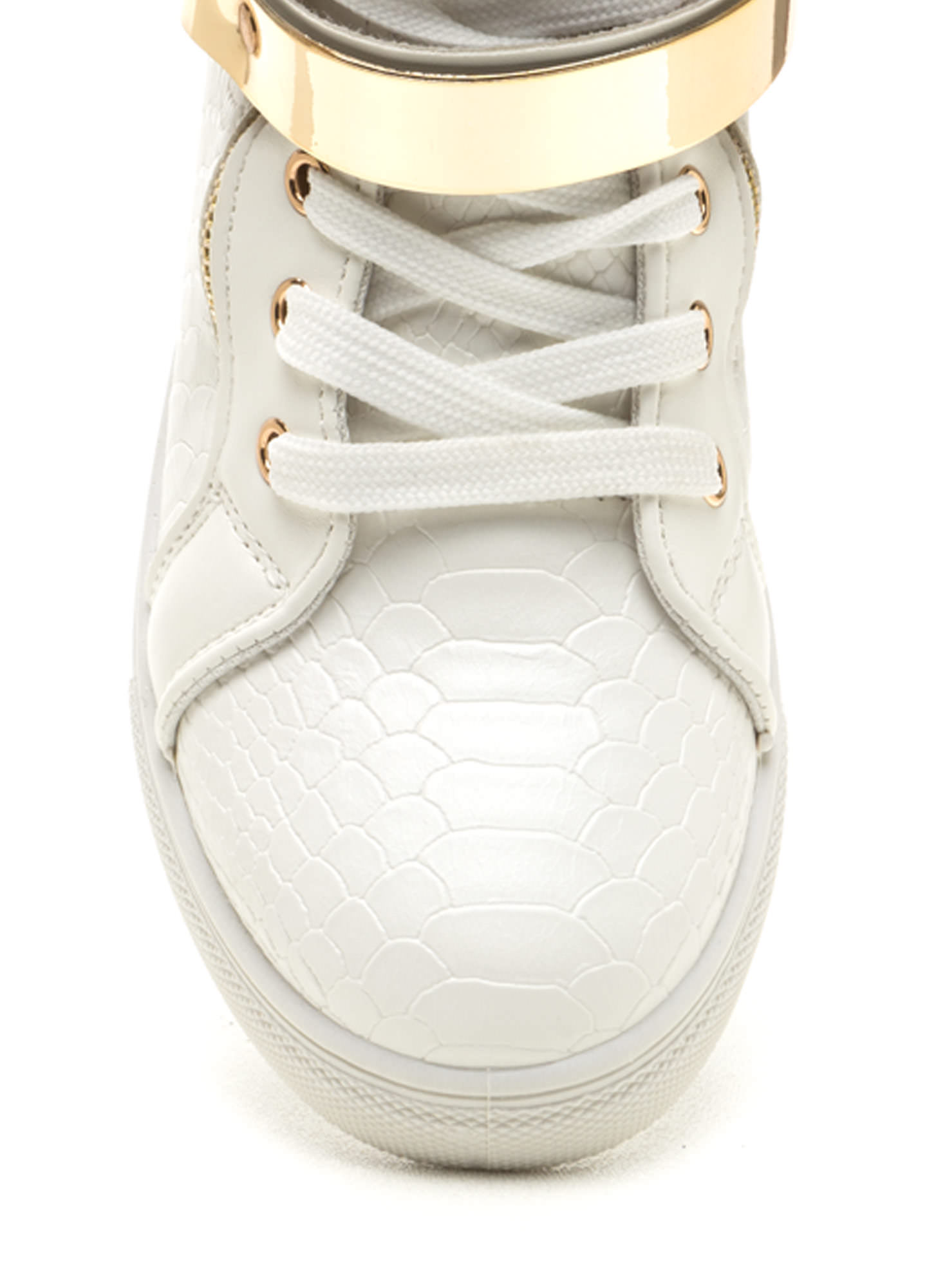 Plate Date Scaled High-Top Sneakers WHITE