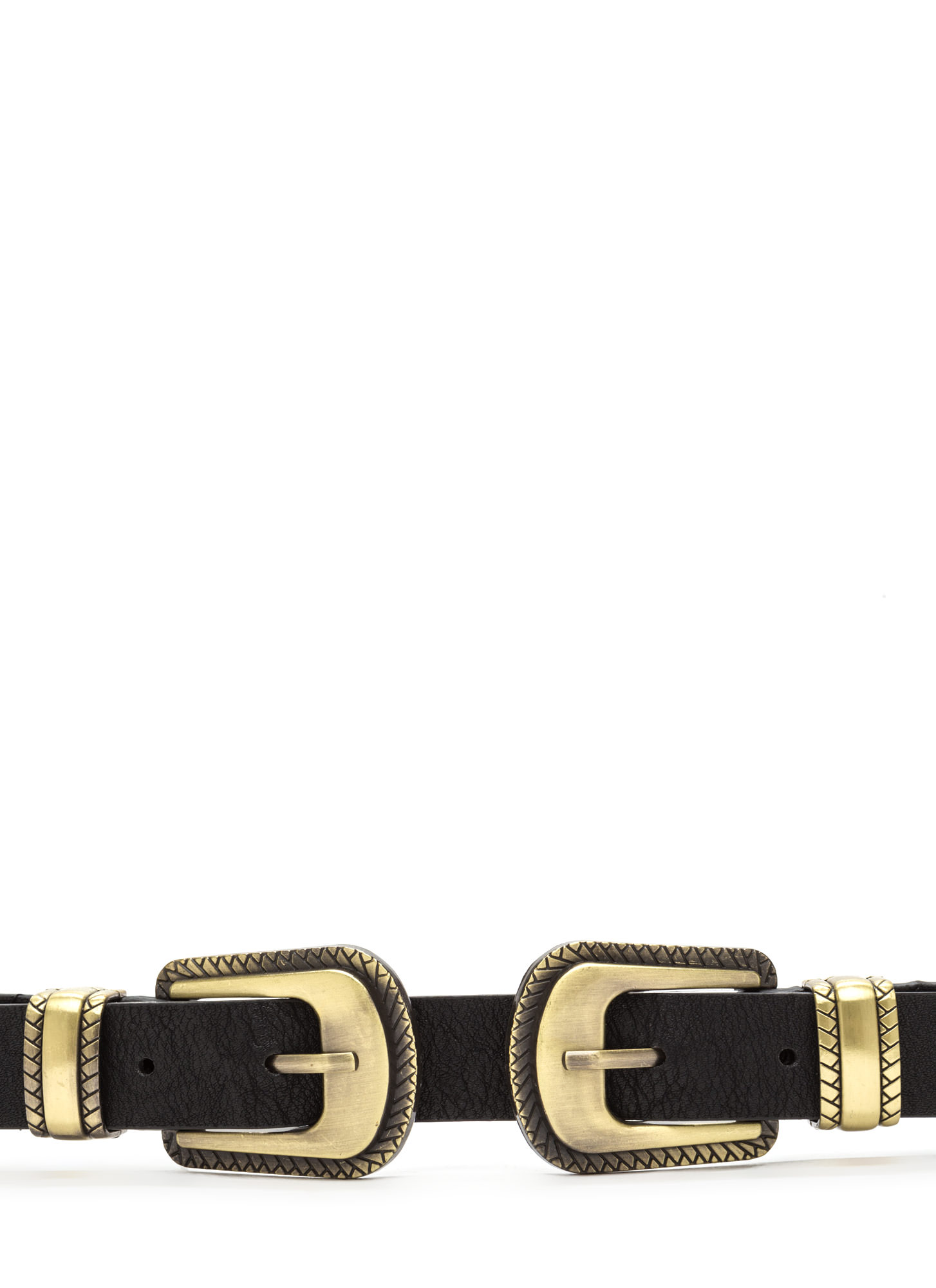 Quick Draw Stretchy Double Buckle Belt DKGOLD