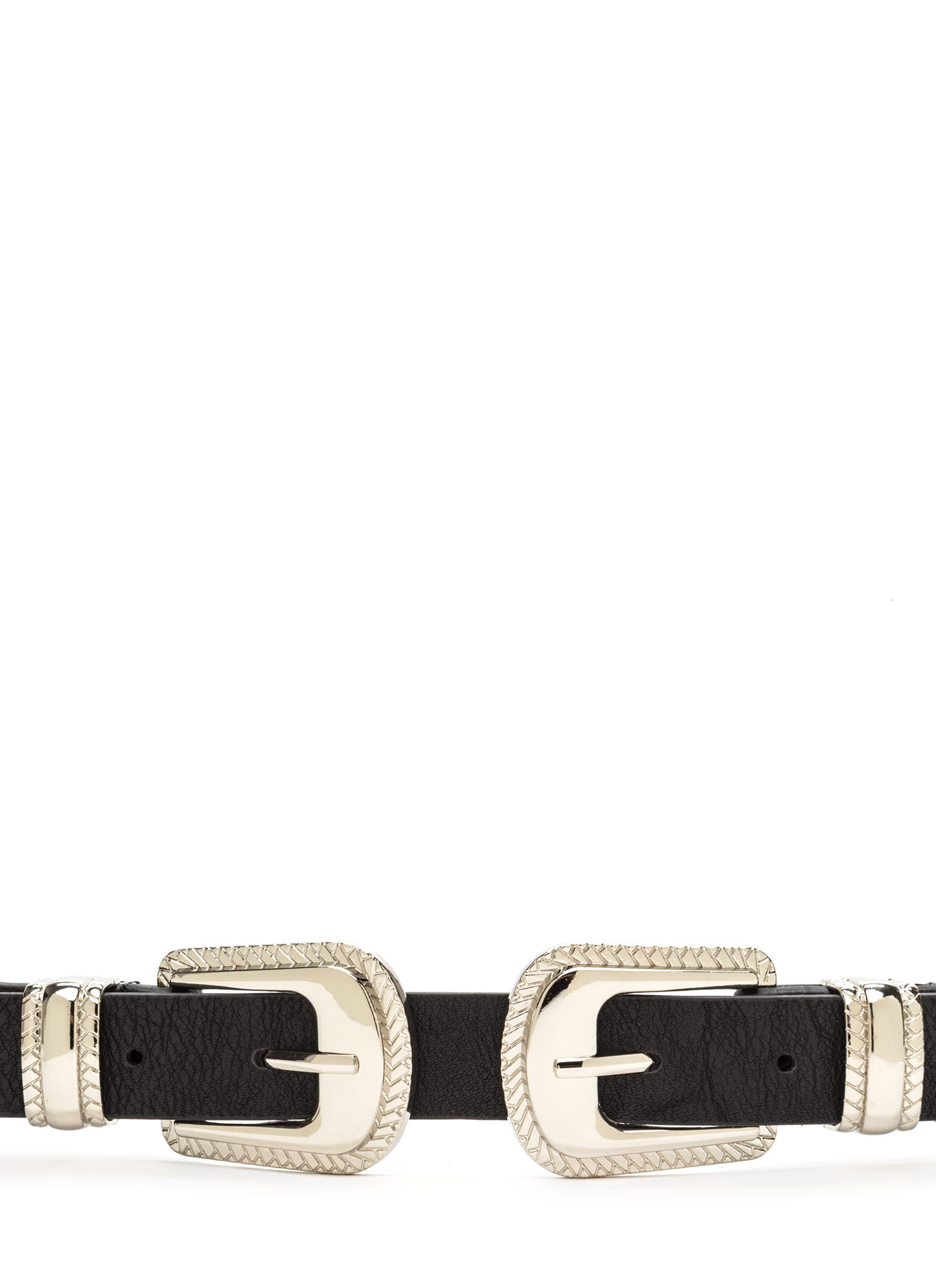 Quick Draw Stretchy Double Buckle Belt SILVER