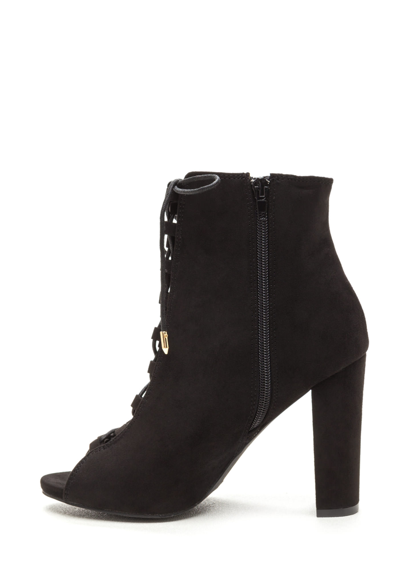 Essential Element Lace-Up Booties BLACK