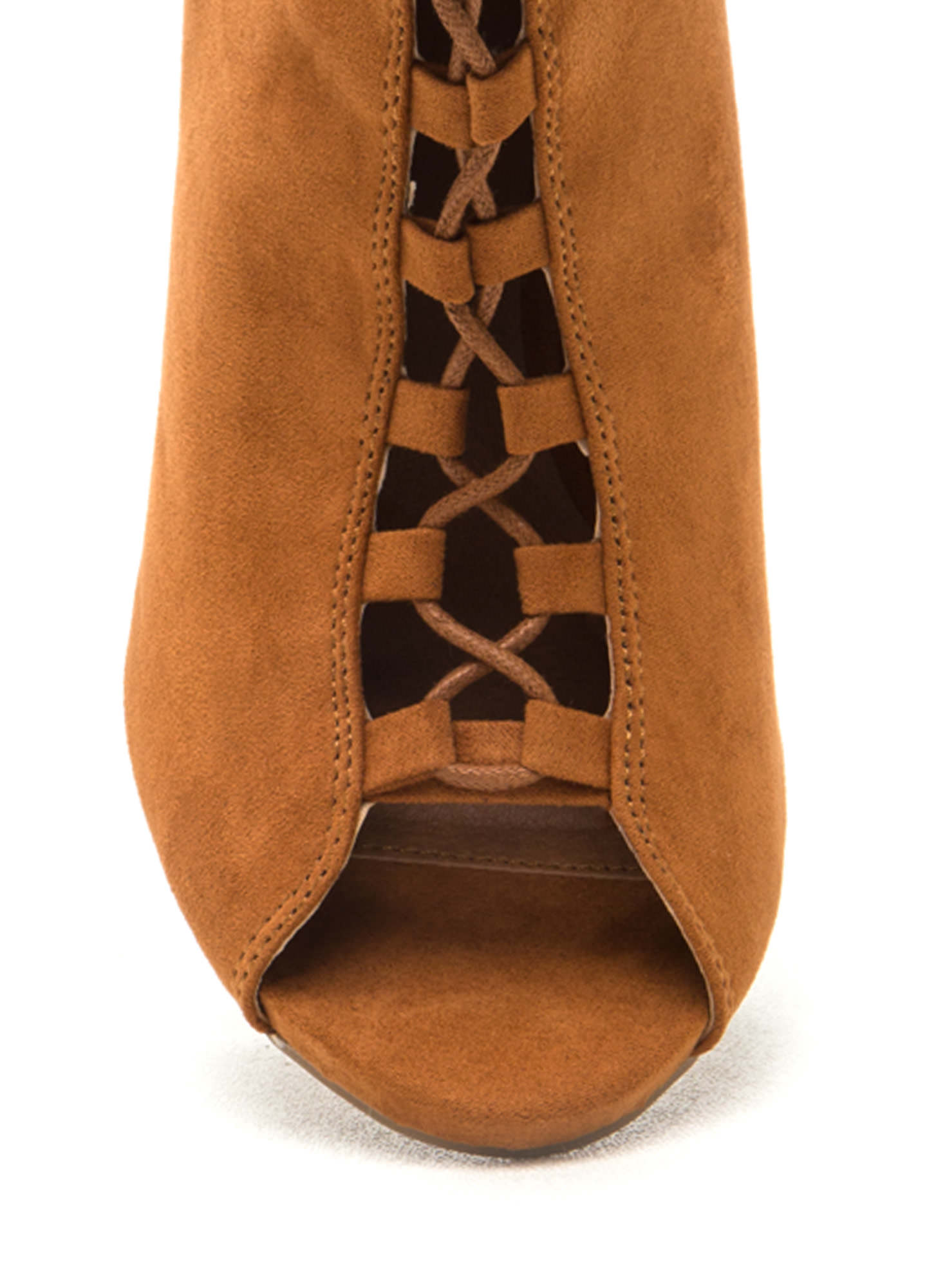 Essential Element Lace-Up Booties WHISKY