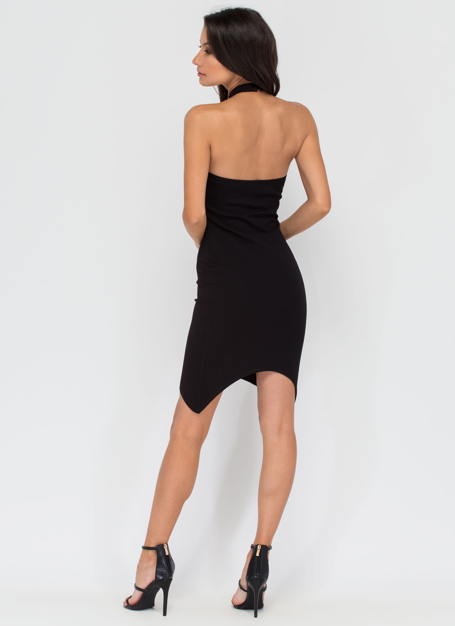 Meet Me For Cocktails Strappy Dress BLACK