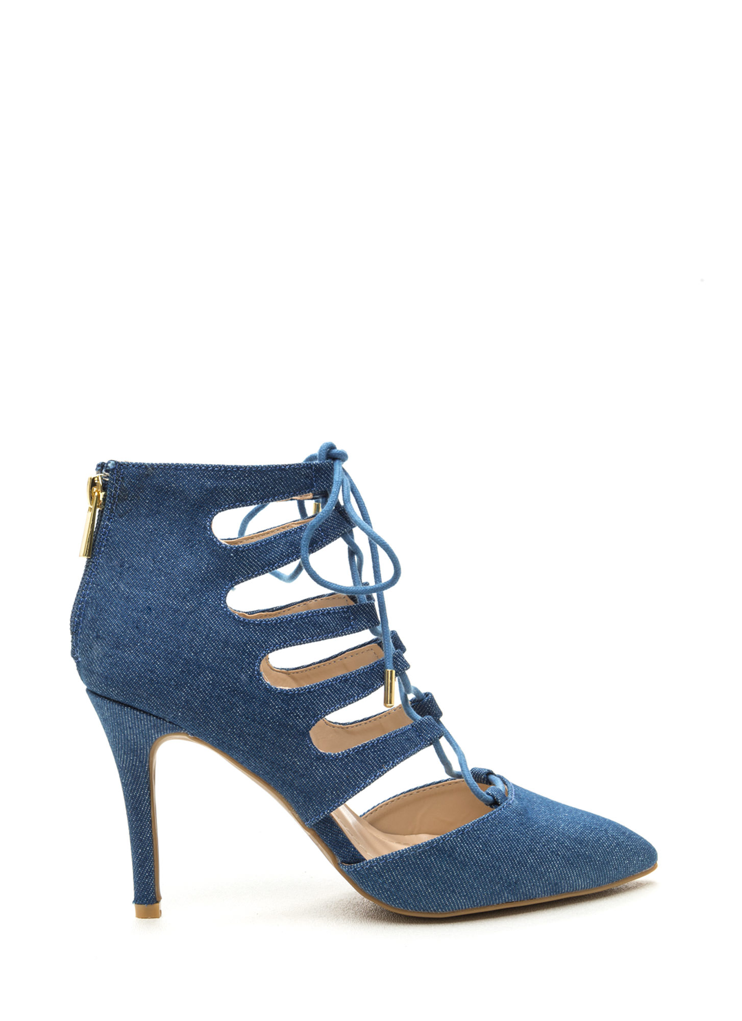 Navy Blue Strappy Heels - Is Heel