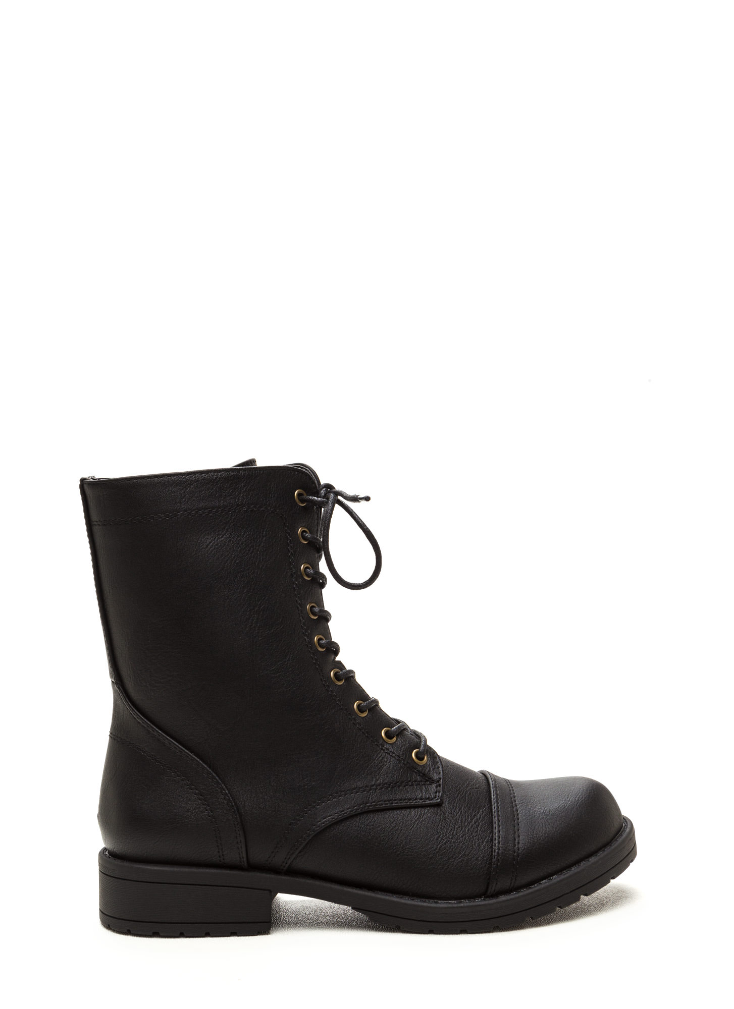 Fashion Operation Combat Boots BLACK