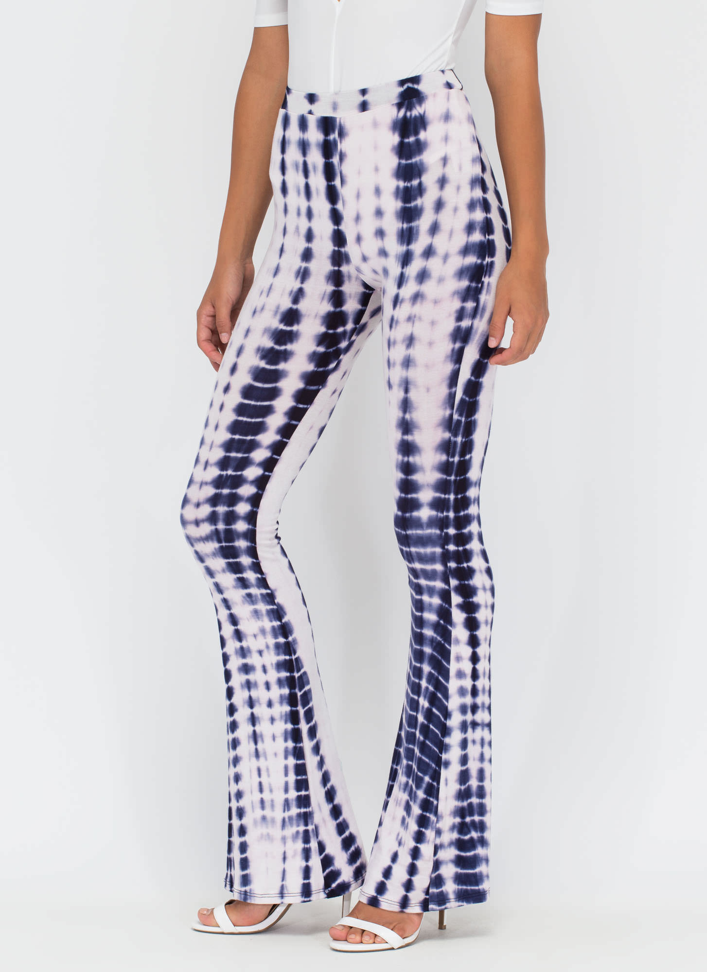 Ride The Wave Tie-Dye Flared Pants NAVY
