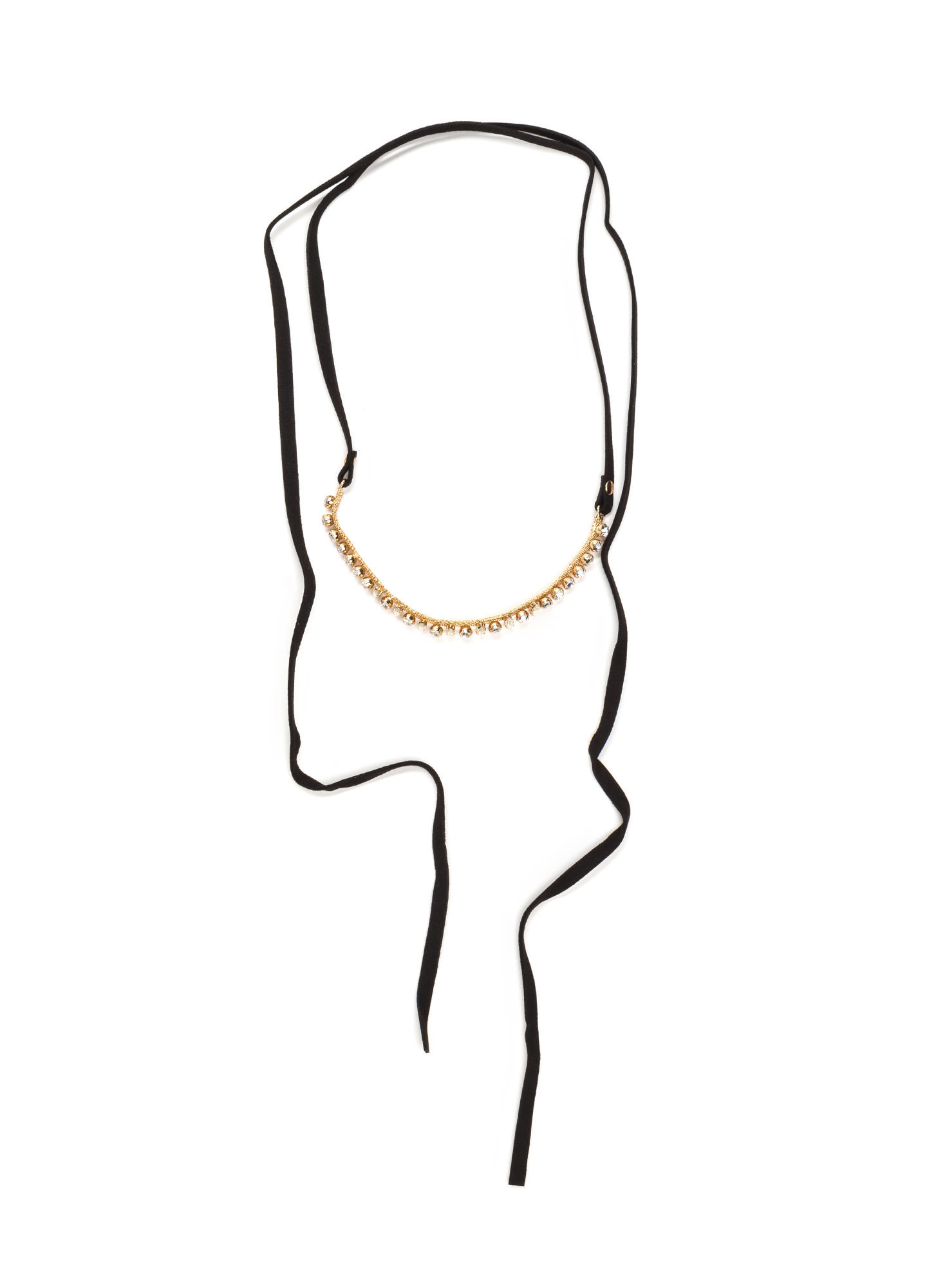 From The Vault Jeweled Wrap Necklace GOLDBLACK