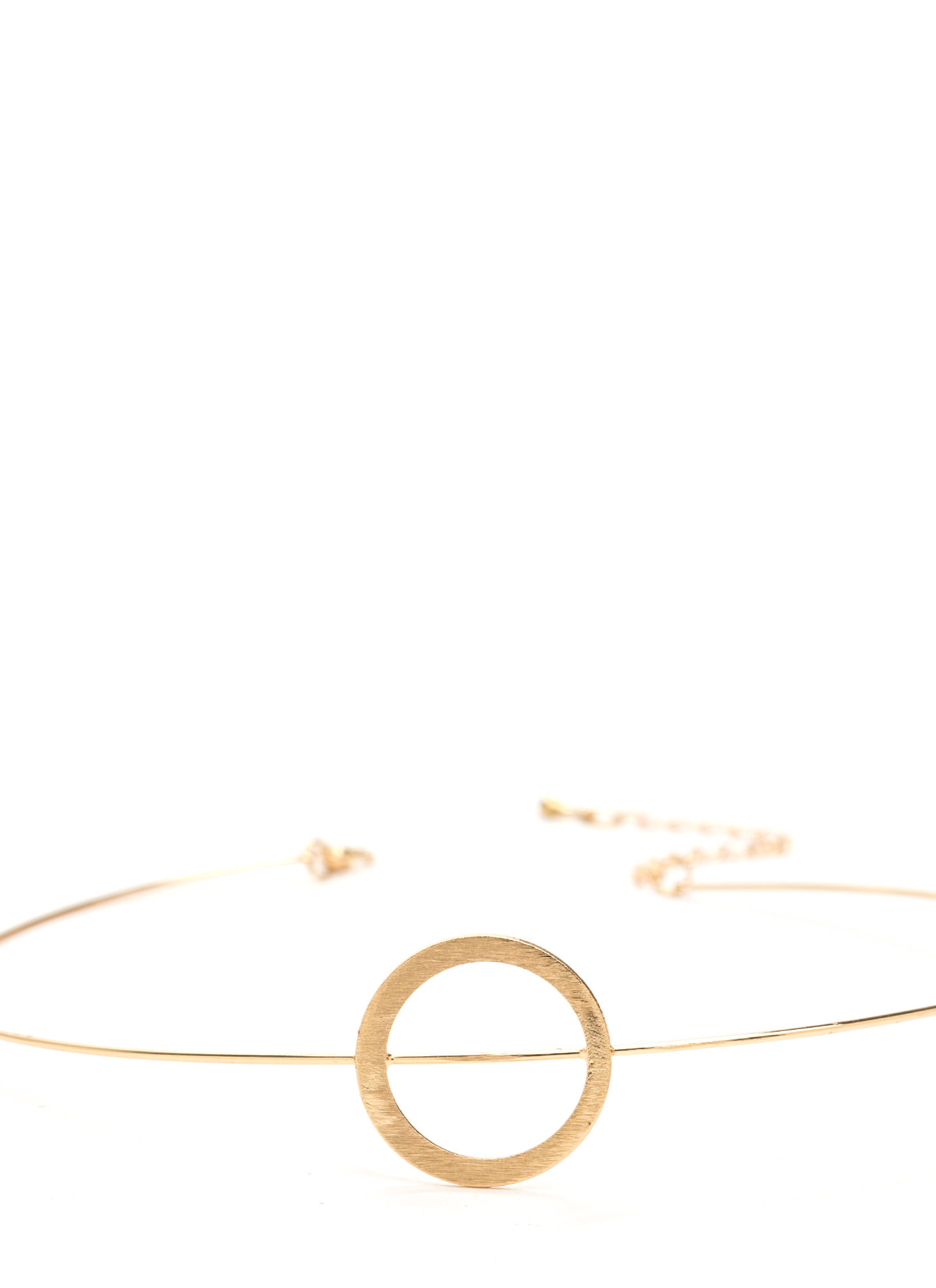 In The Circle Wire Choker GOLD