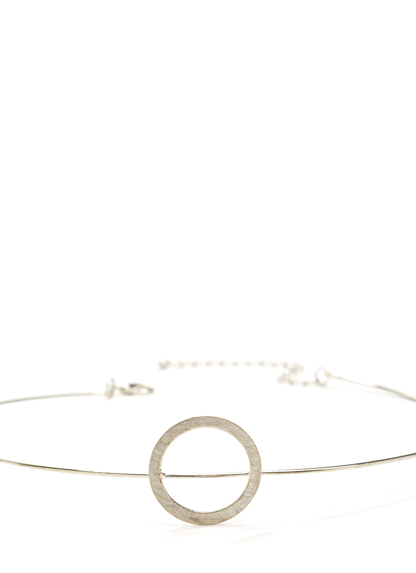 In The Circle Wire Choker SILVER