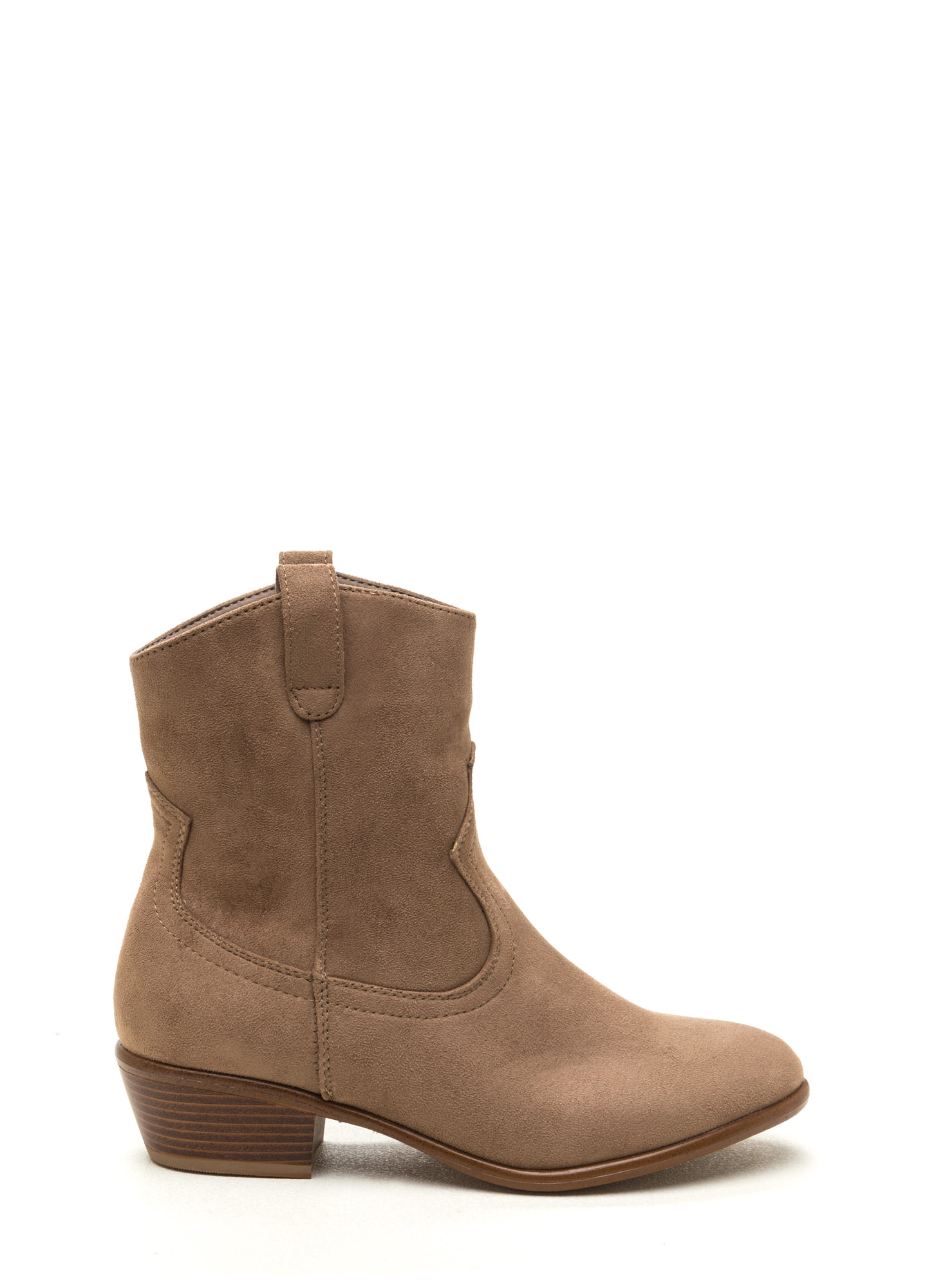Road Less Traveled Western Booties TAUPE