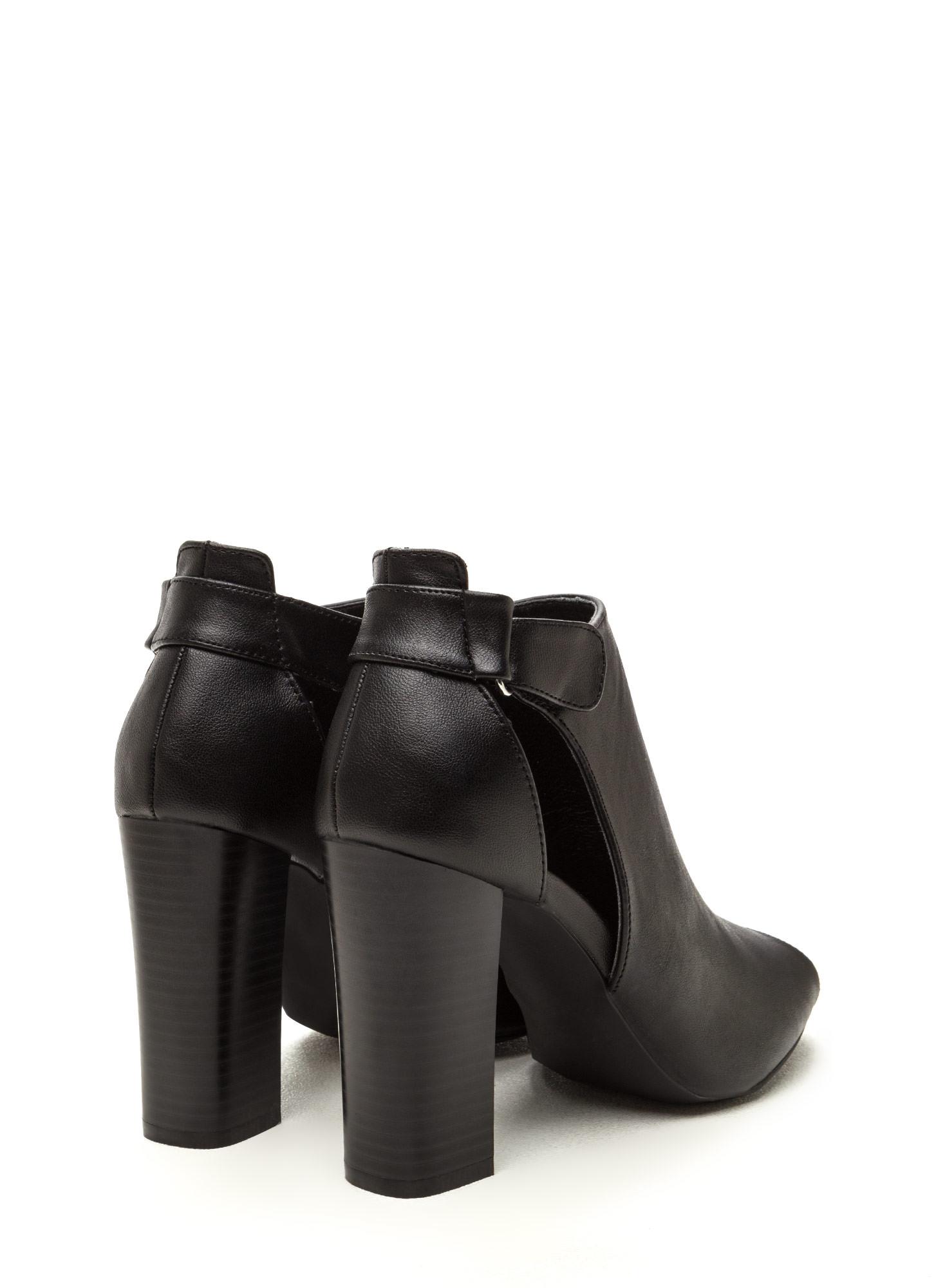 State Of Mind Chunky Cut-Out Booties BLACK