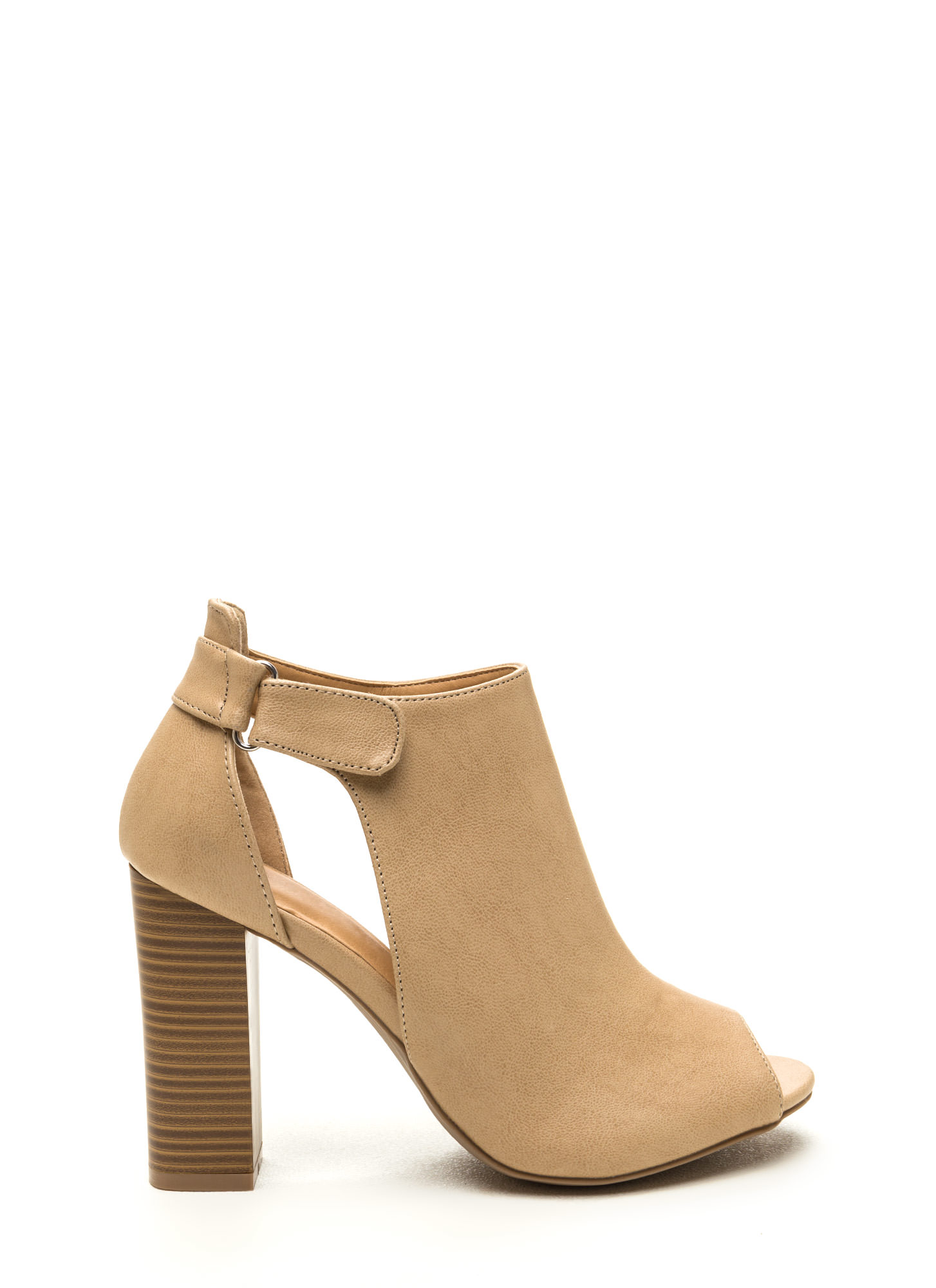 State Of Mind Chunky Cut-Out Booties NATURAL