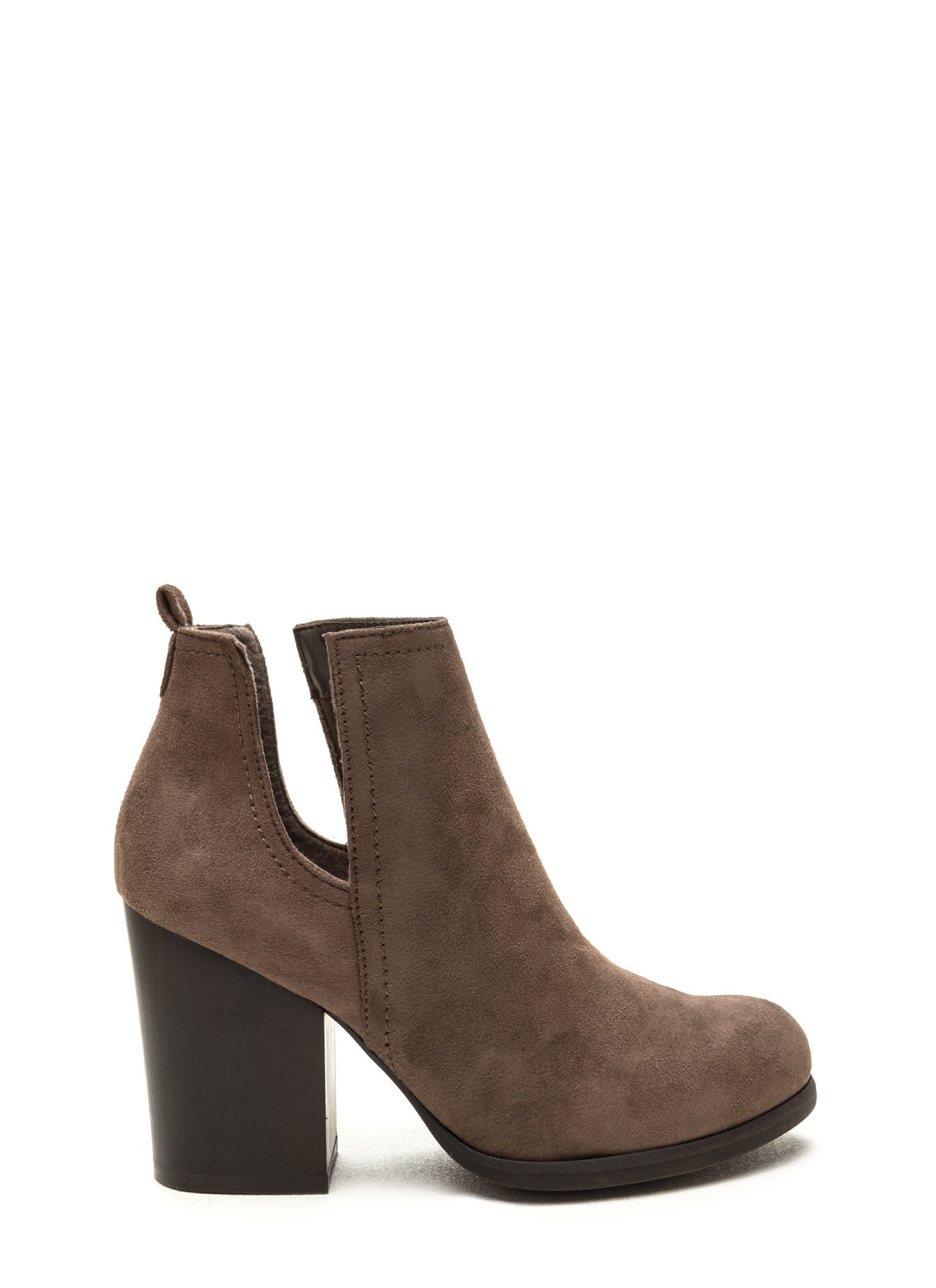 Continental Divide Cut-Out Block Booties TAUPE