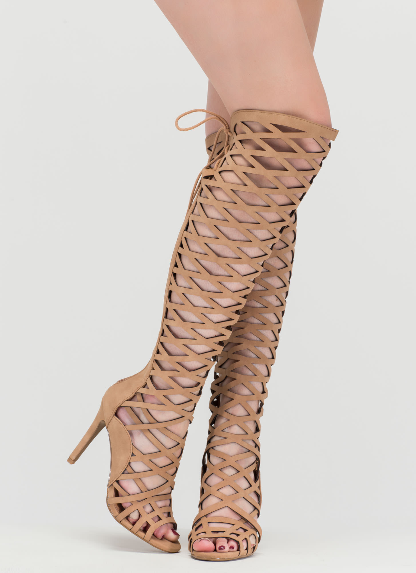 Playing With Fire Caged Gladiator Heels DKSAND