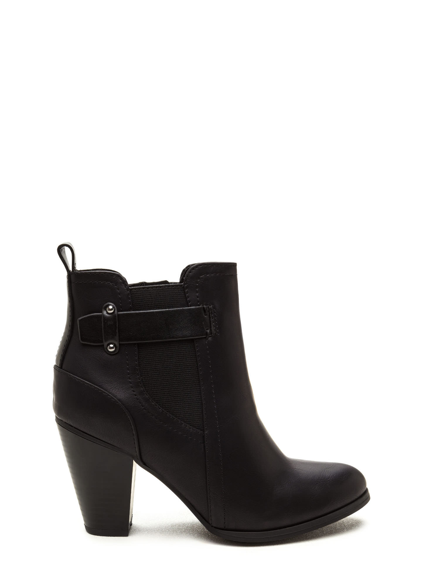 Focus On The Details Chunky Booties BLACK