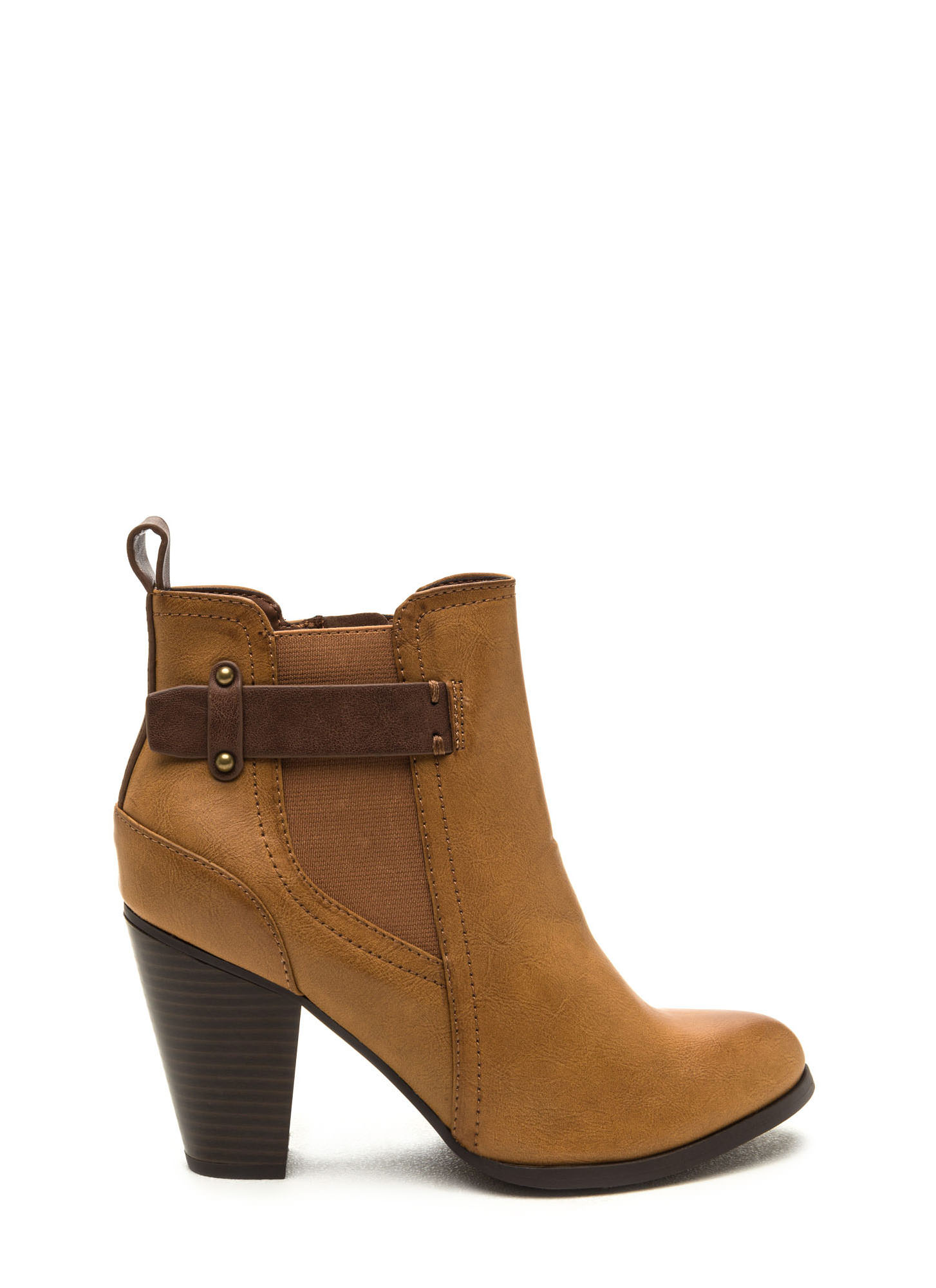 Focus On The Details Chunky Booties TAN