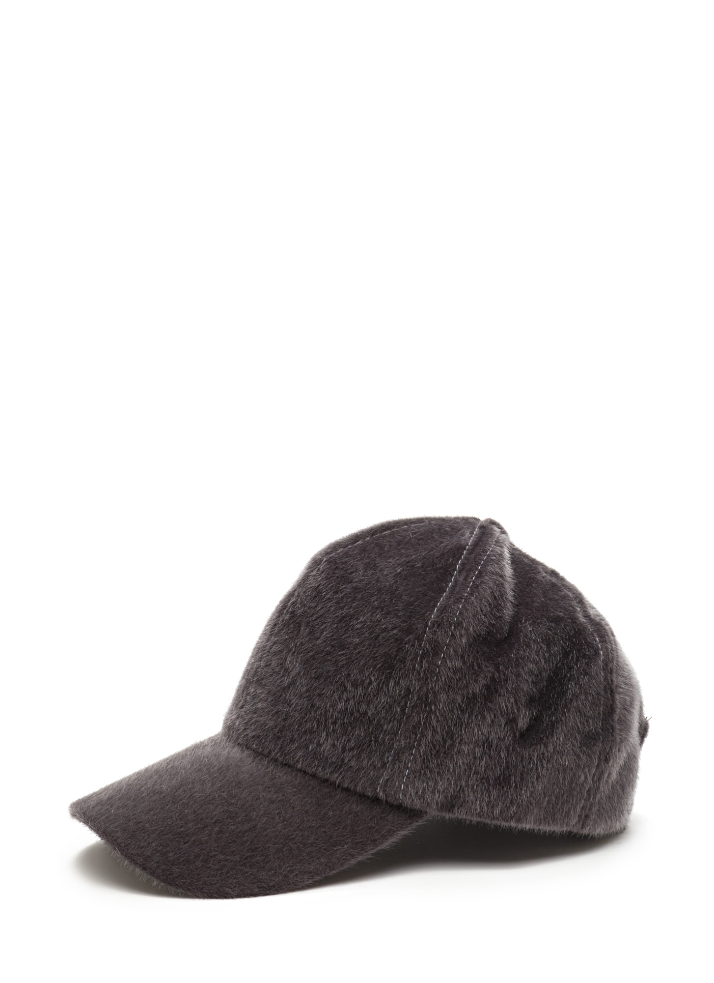 Keep Your Cool Faux Calf Hair Cap GREY